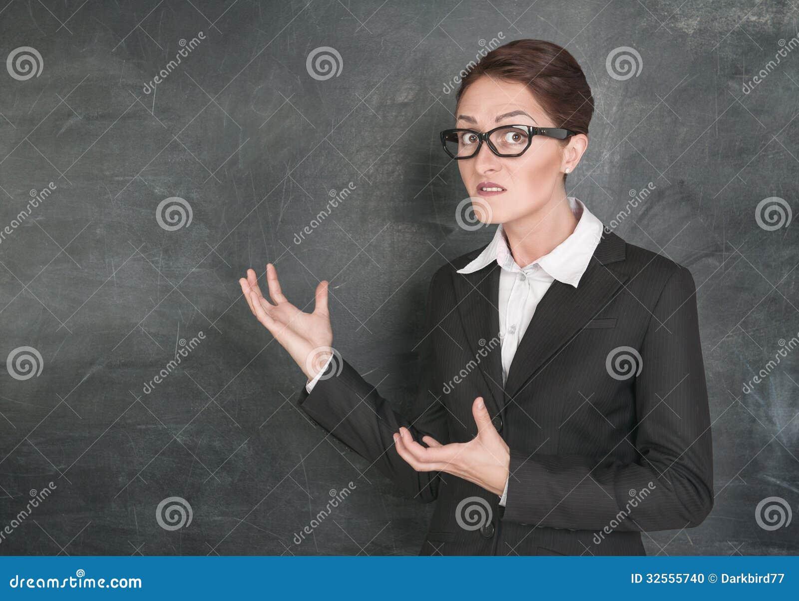 crazy teacher stock photo  image of rigorous  looking