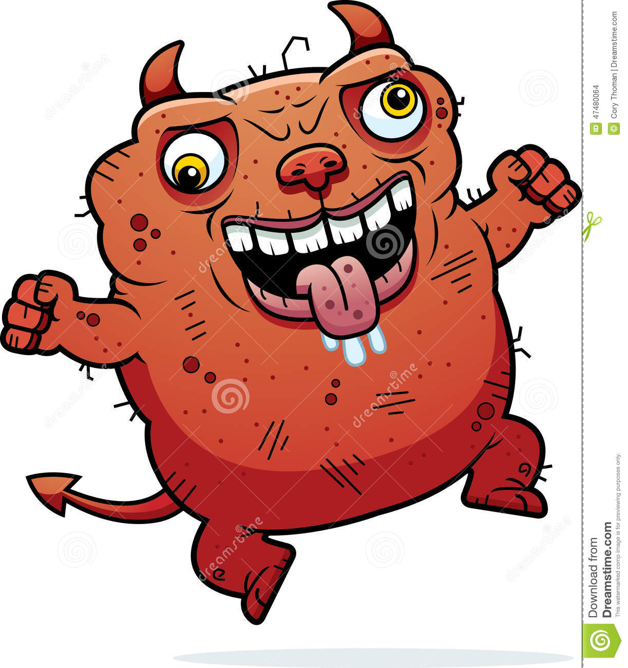 crazy ugly devil stock vector image 47480064