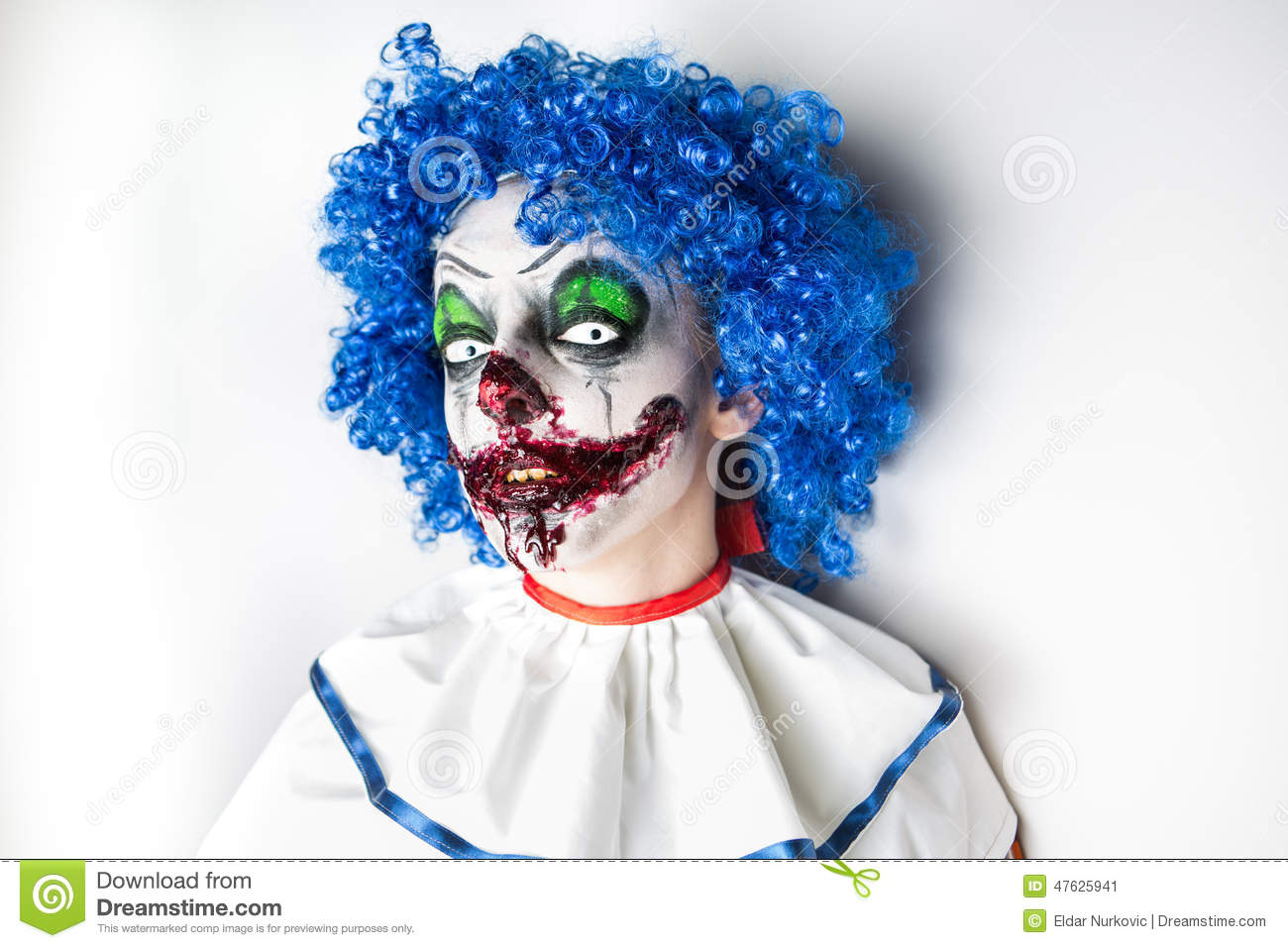 Crazy Ugly Grunge Evil Clown. Scary Professional Halloween Masks ...