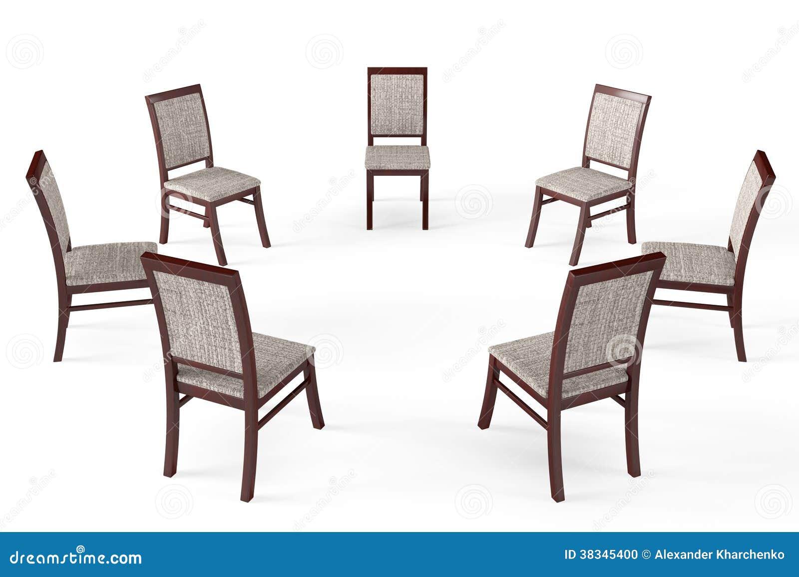 Círculo De Cadeiras De Madeira Modernas Foto de Stock Imagem  #84A625 1300x955