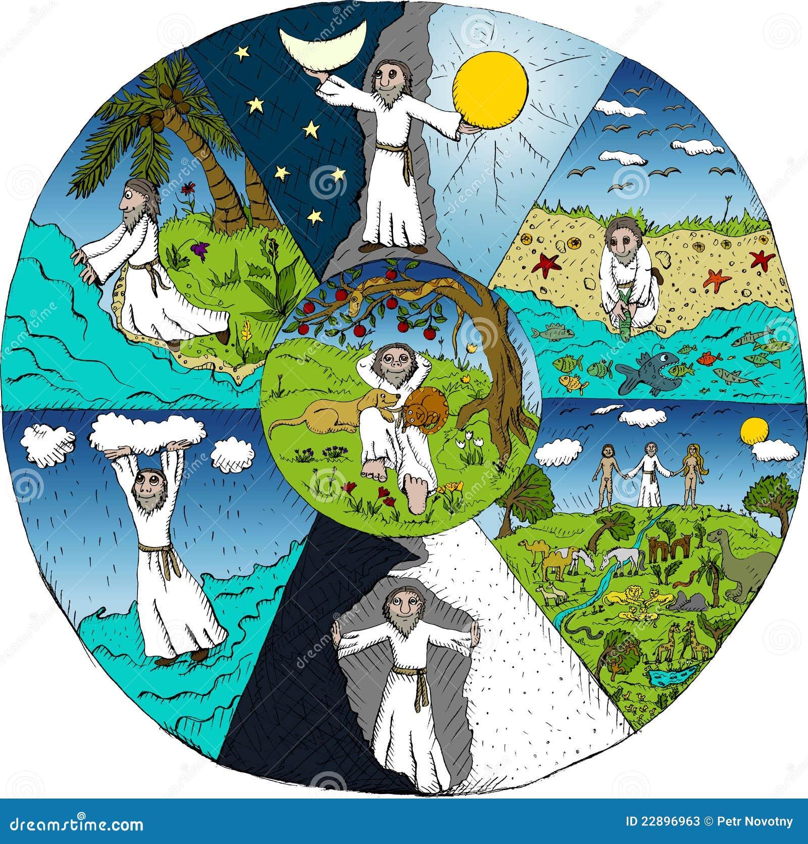 Creaci 243 N Del Mundo Ilustraci 243 N Del Vector Ilustraci 243 N De
