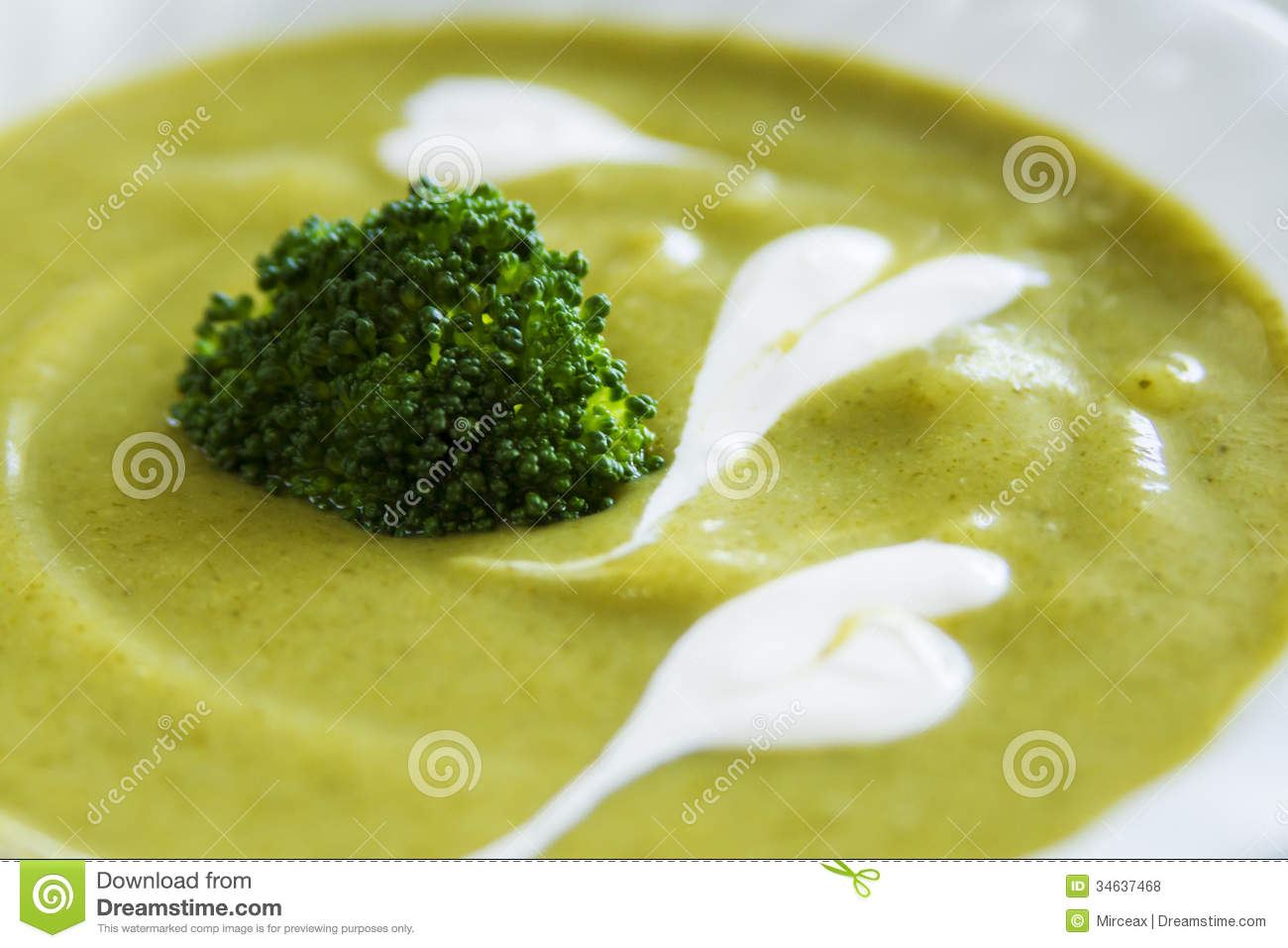 Cream Of Broccoli Soup Close Up Royalty Free Stock Photos - Image ...