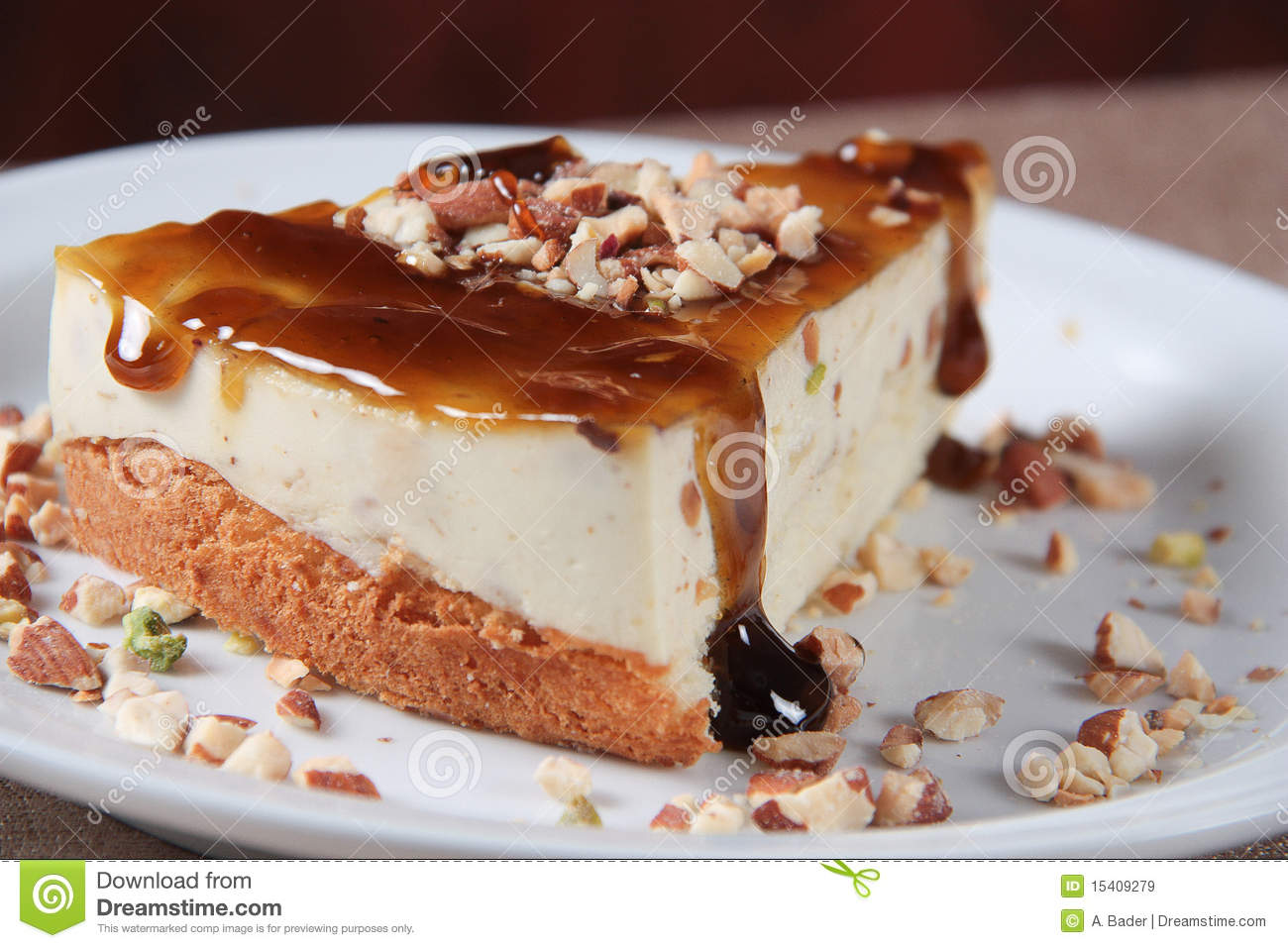 Cream Caramel Cheesecake Royalty Free Stock Images - Image: 15409279