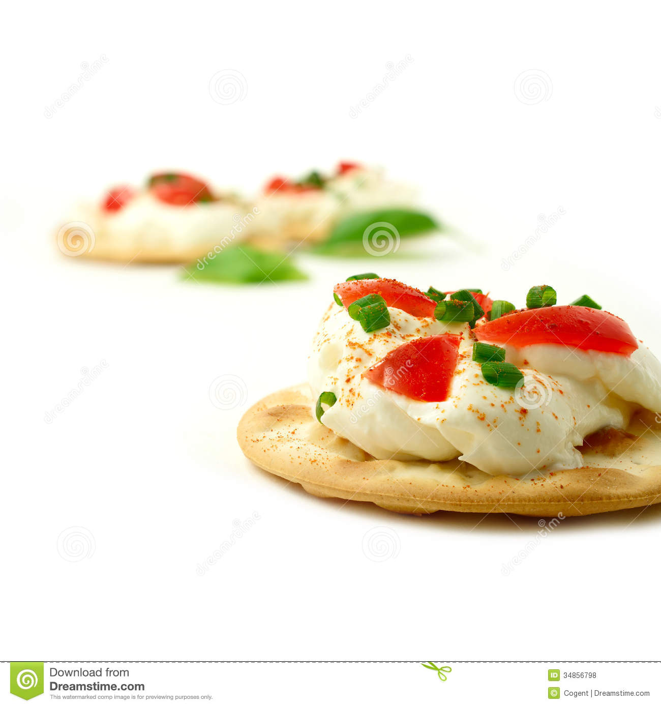 Cream cheese canape royalty free stock photos image for Cream cheese canape
