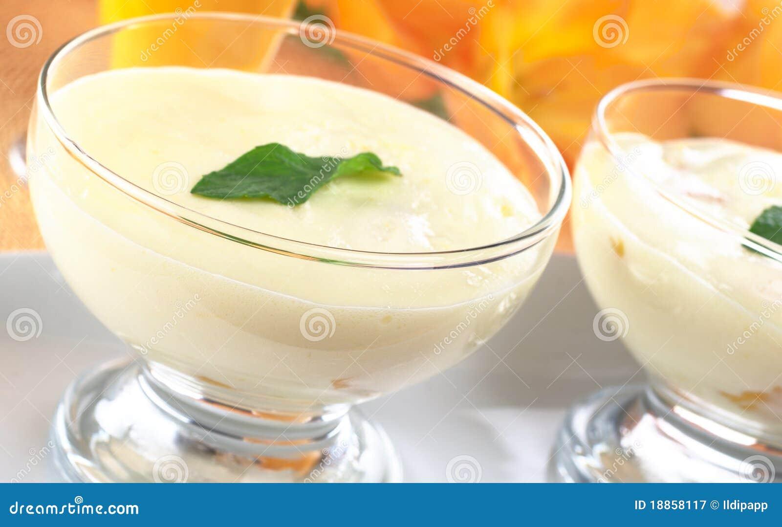 Cream Cheese Dessert Royalty Free Stock Photography