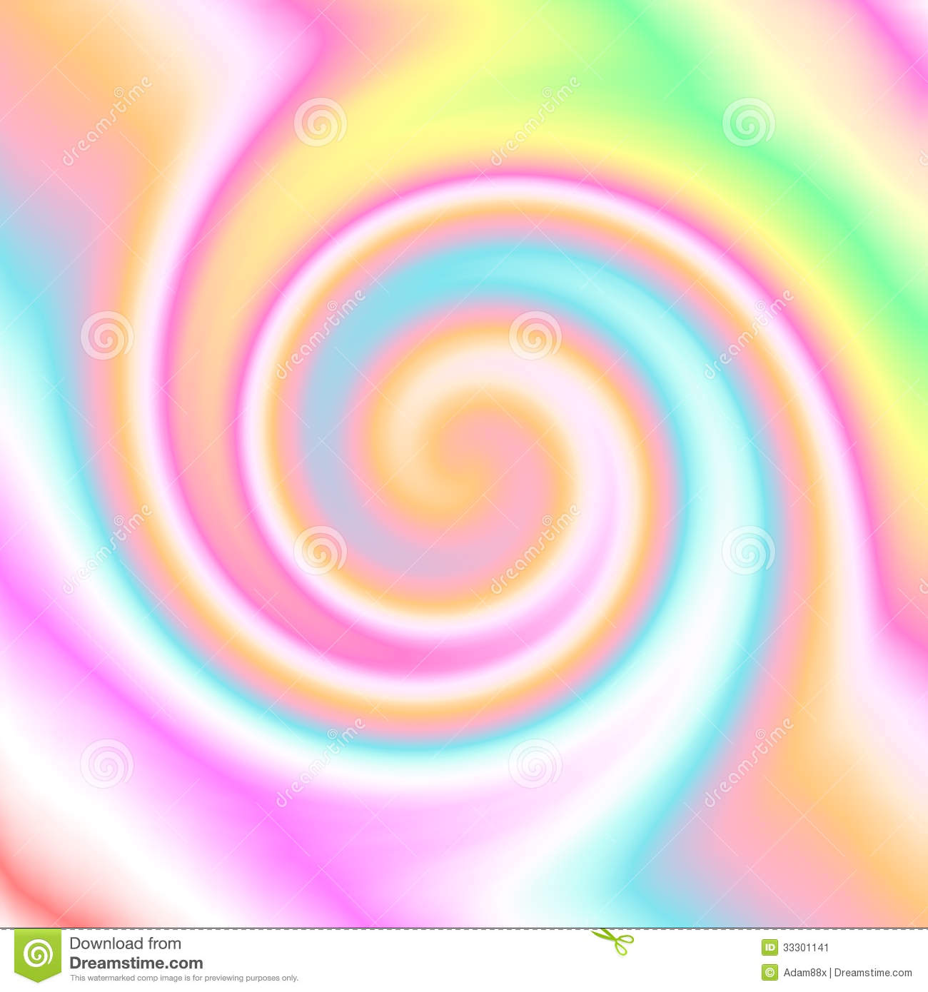 Colorful Swirl Paintings