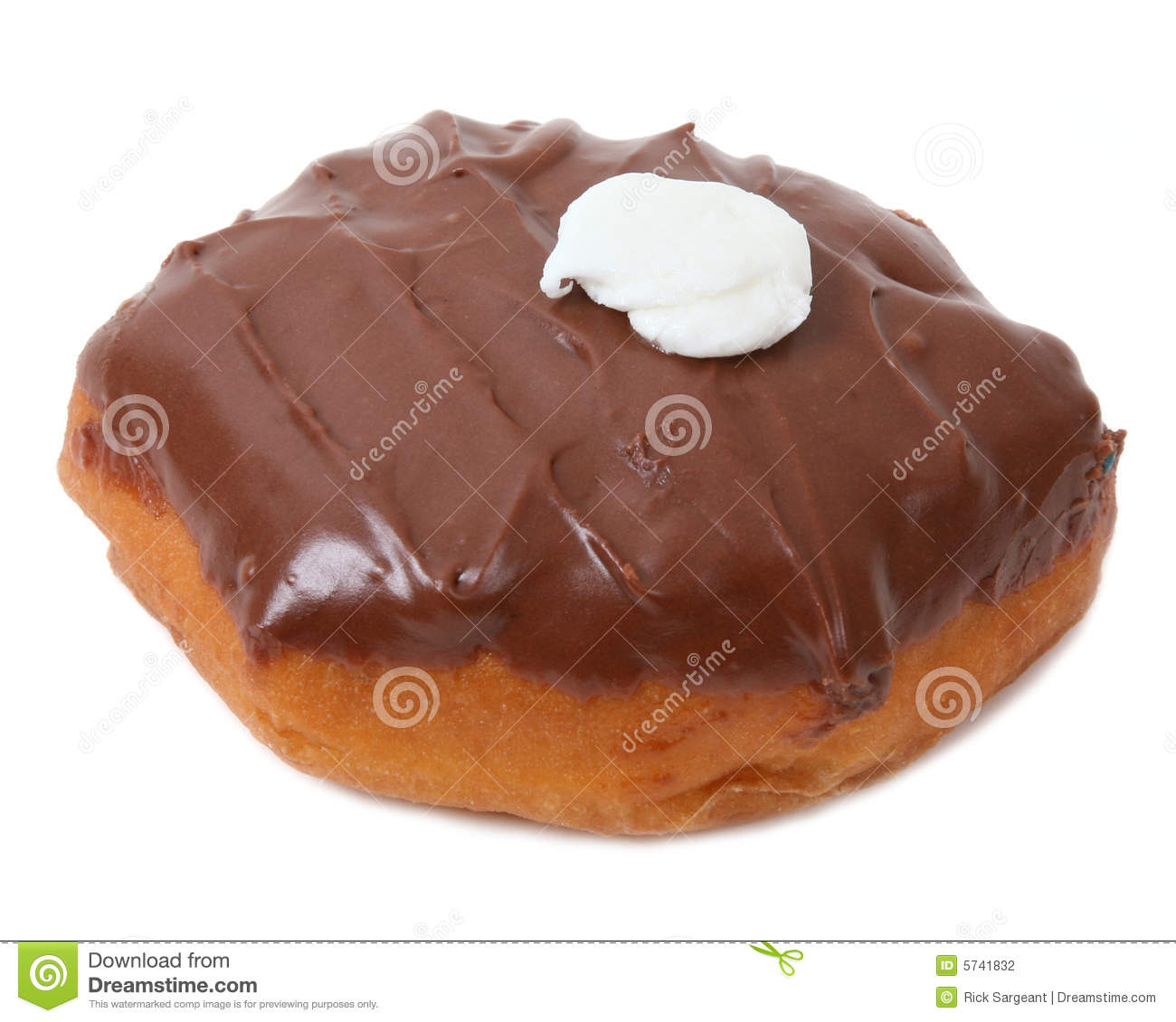 Cream Filled Chocolate Donut Stock Photography - Image: 5741832