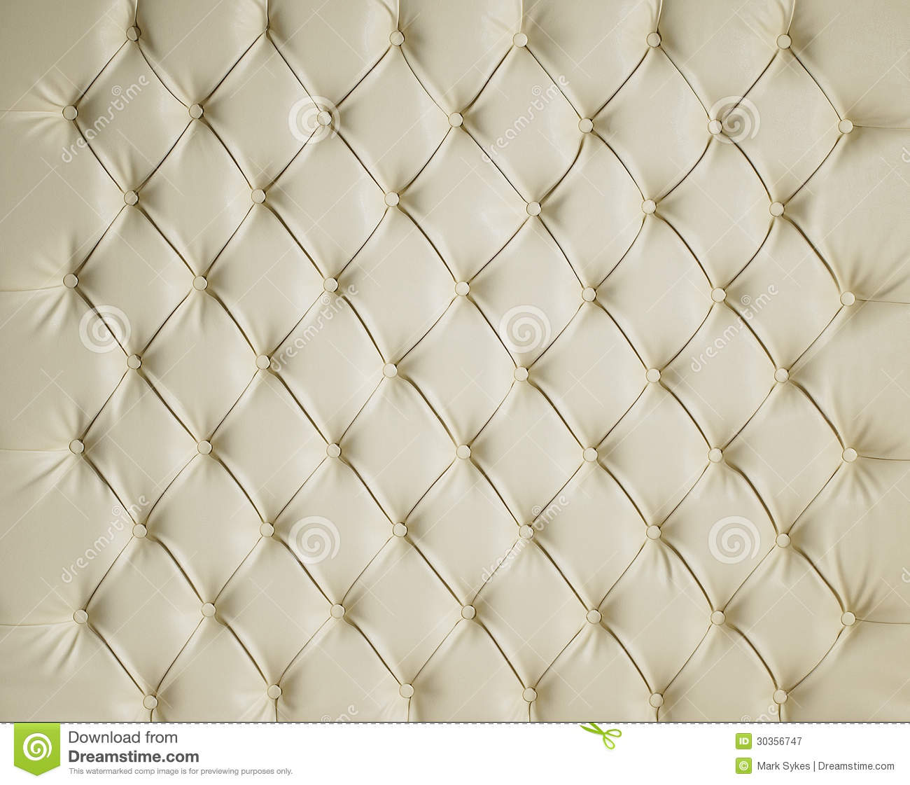 Cream Leather Padded Studded Luxury Background Stock Image