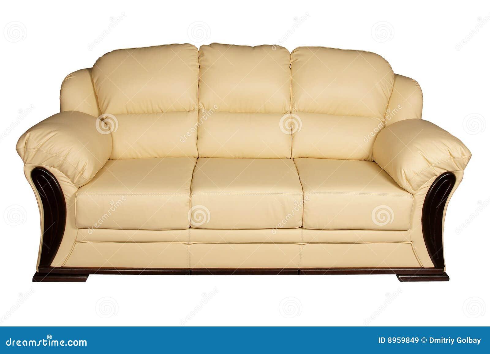 Cream Leather Sofa Royalty Free Stock Images Image 8959849