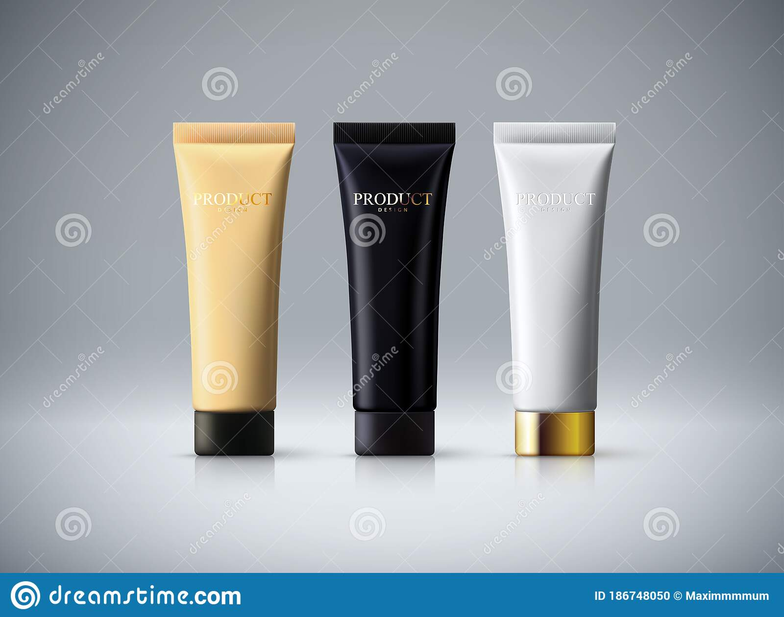 Cosmetic Packaging Design Stock Vector Illustration Of Concept 186748050