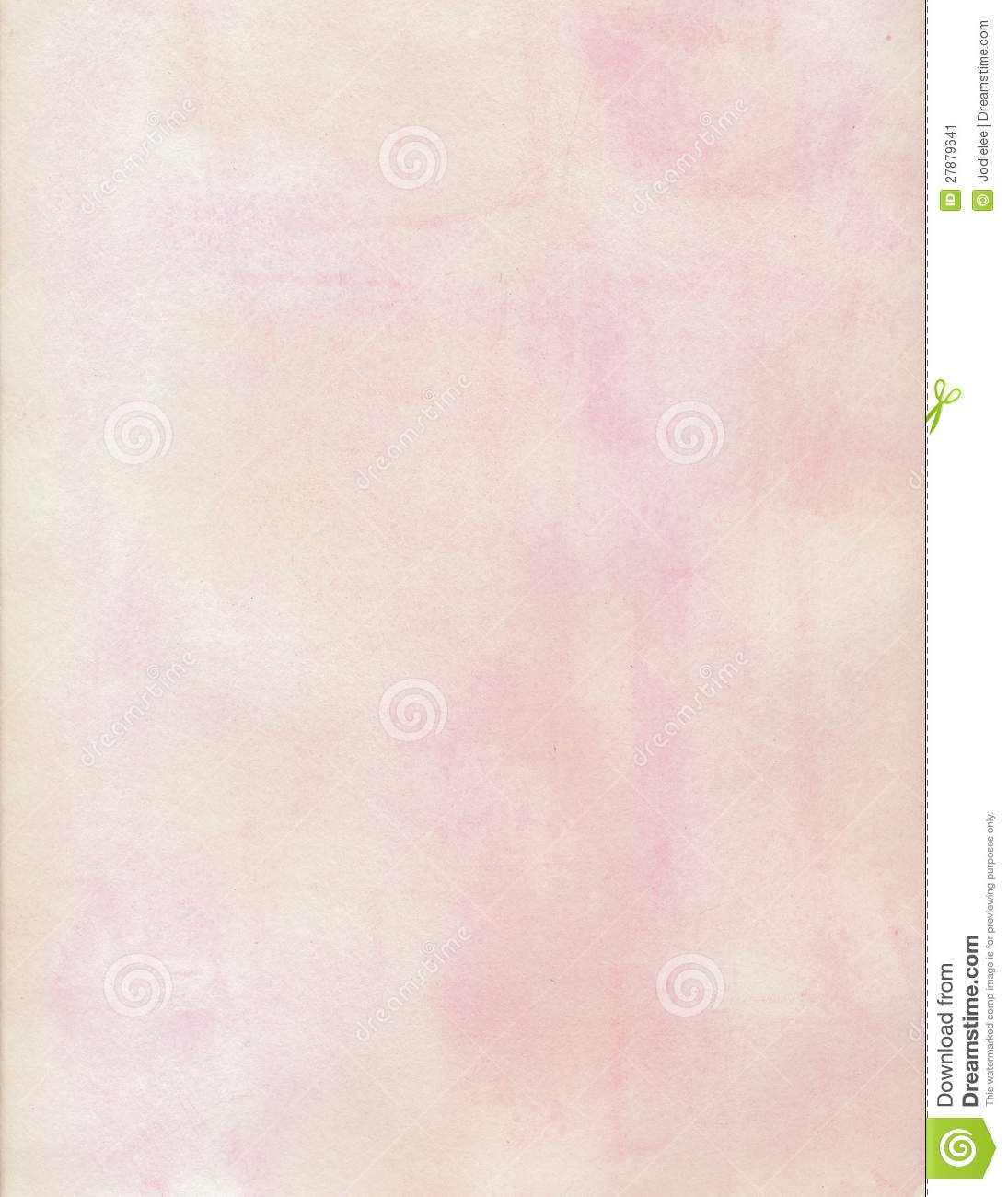 Cream And Pink Water Color Soft Grungy Background Stock