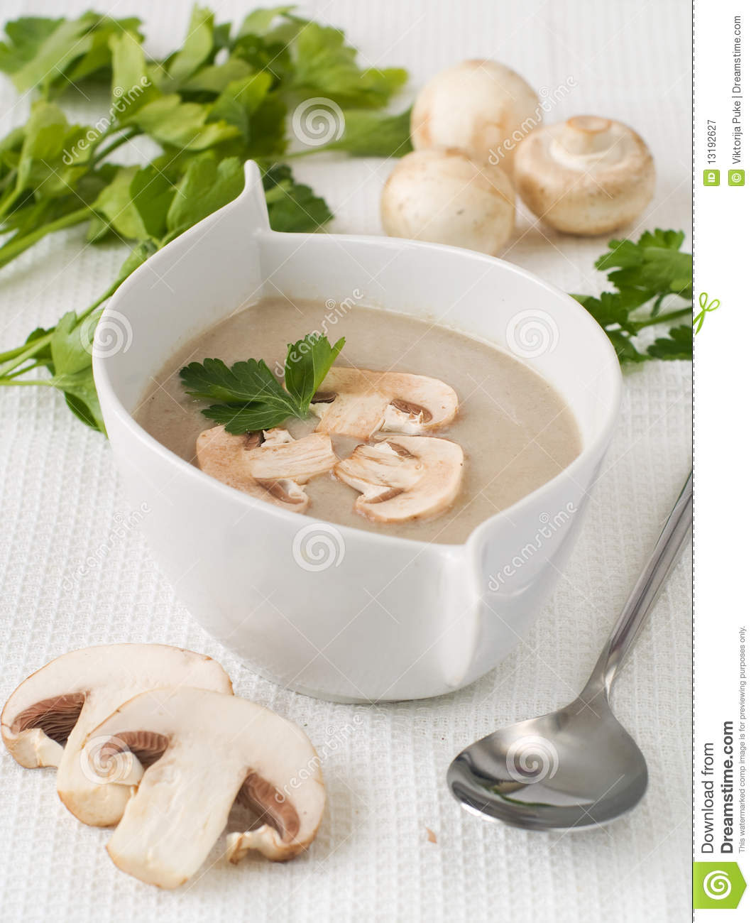 Cream-soup from mushrooms