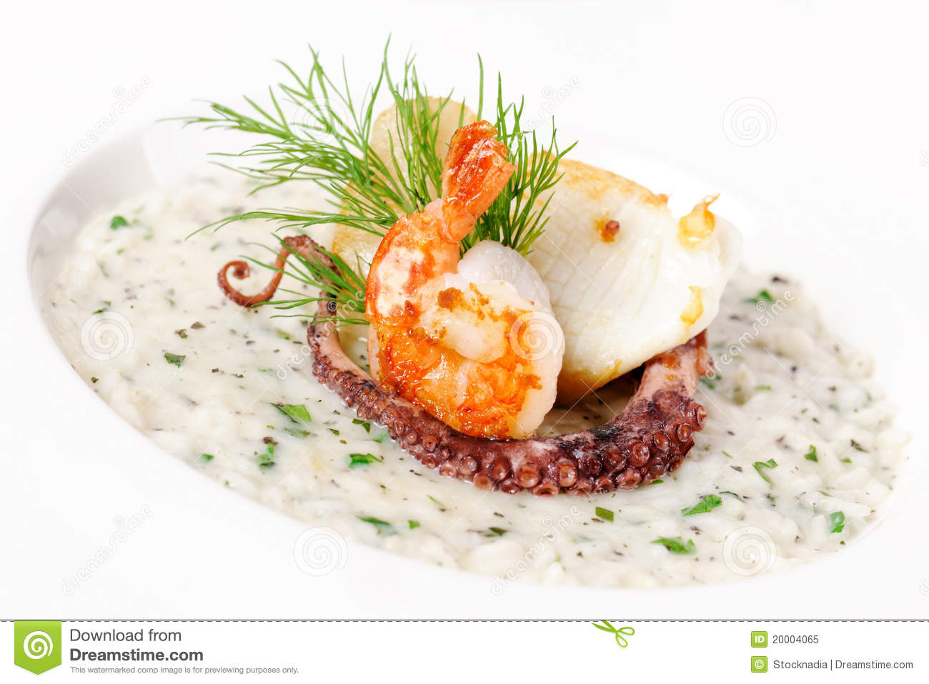 Cream soup with seafood royalty free stock photo image for Fried fish and shrimp