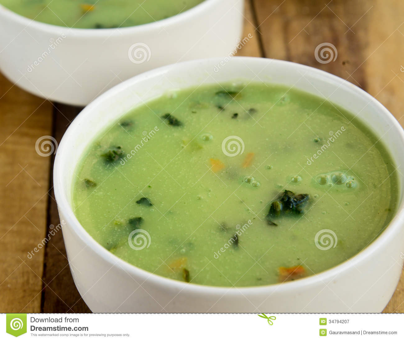 Cream Of Spinach Soup Royalty Free Stock Photography - Image: 34794207