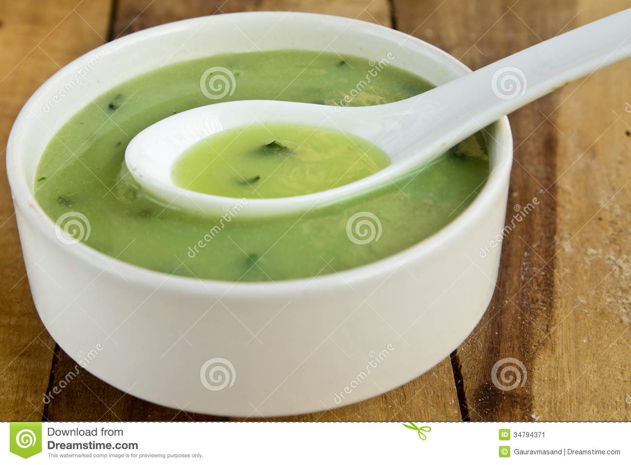 Cream Of Spinach Soup Stock Image - Image: 34794371