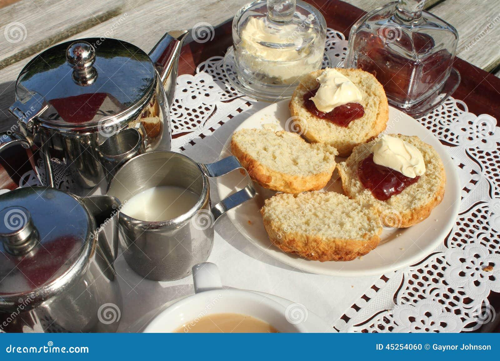 Cream Tea on a tray
