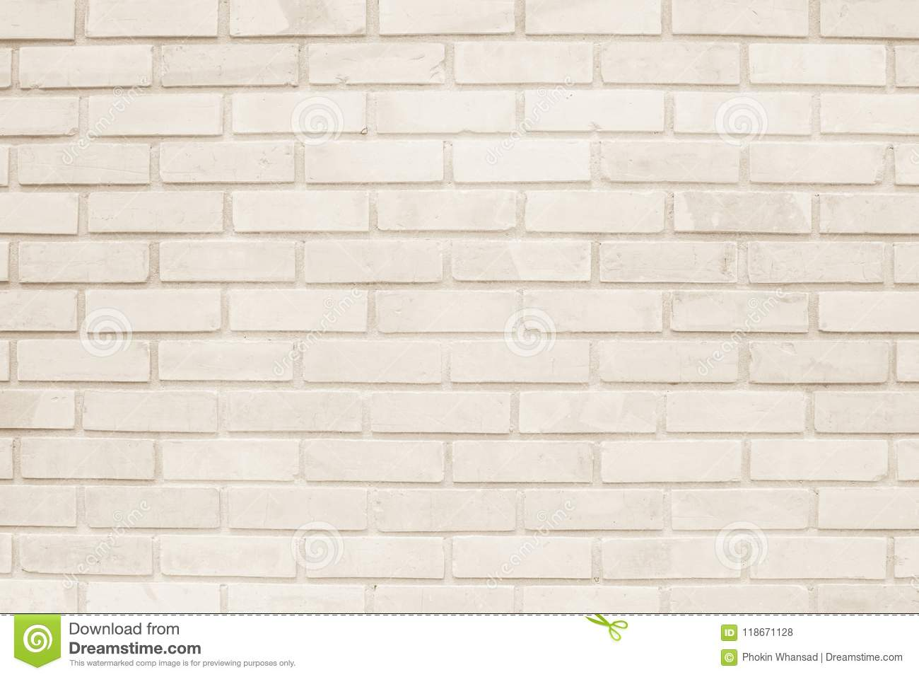 Cream And White Brick Wall Texture Background Or Wallpaper