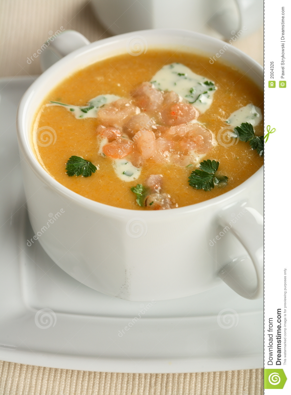 Creamy fish soup royalty free stock image image 2004326 for Creamy fish soup recipe