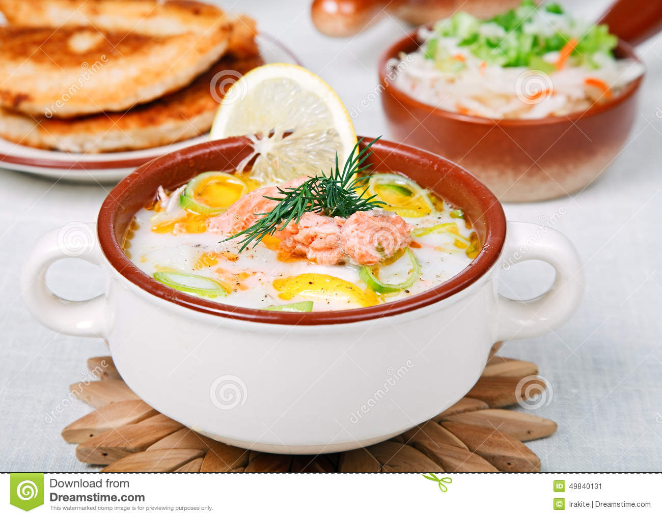 Creamy Fish Soup Stock PhotoImage49840131