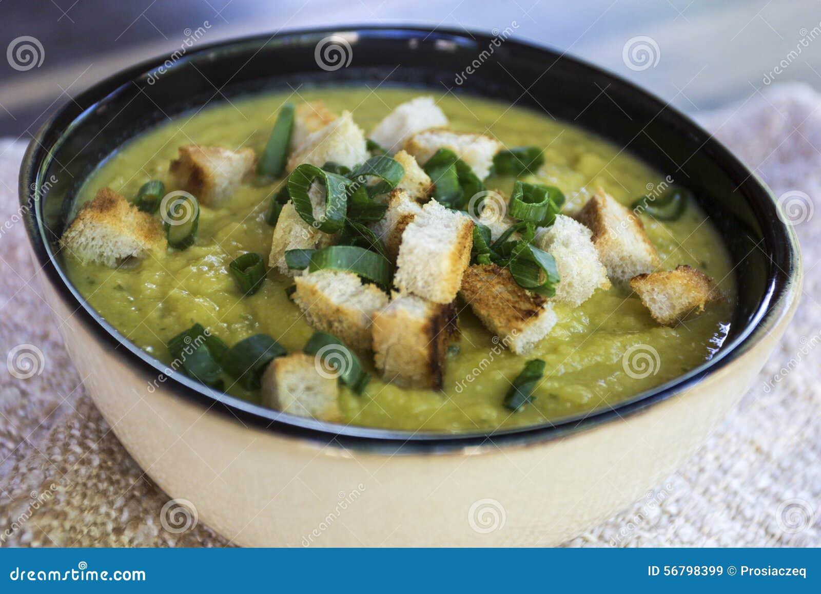 Creamy Lentil Soup Stock Photo - Image: 56798399