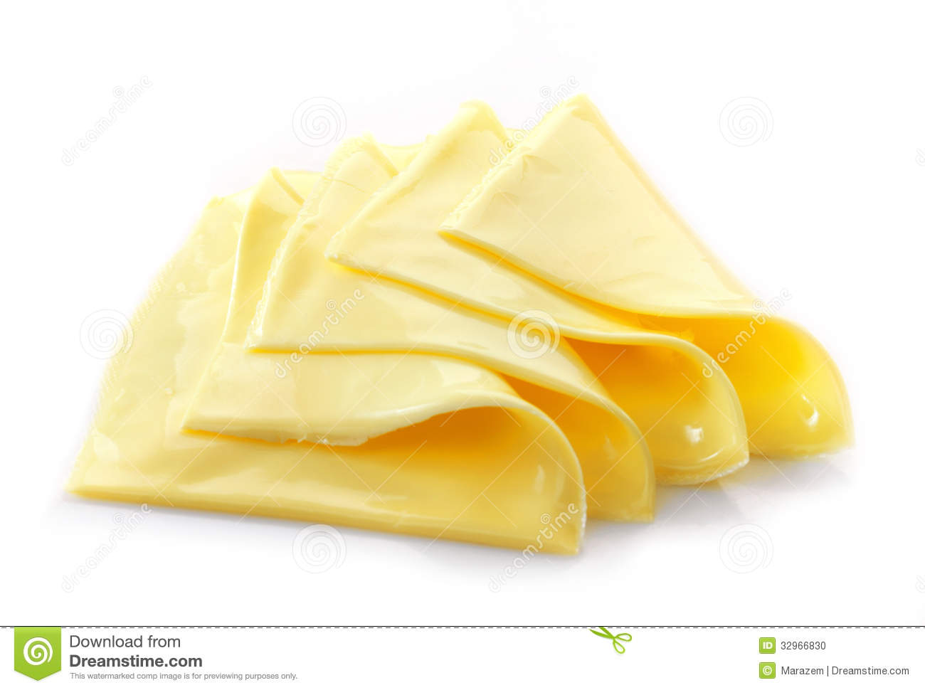 Creamy Processed Cheese Slices Stock Photo - Image: 32966830