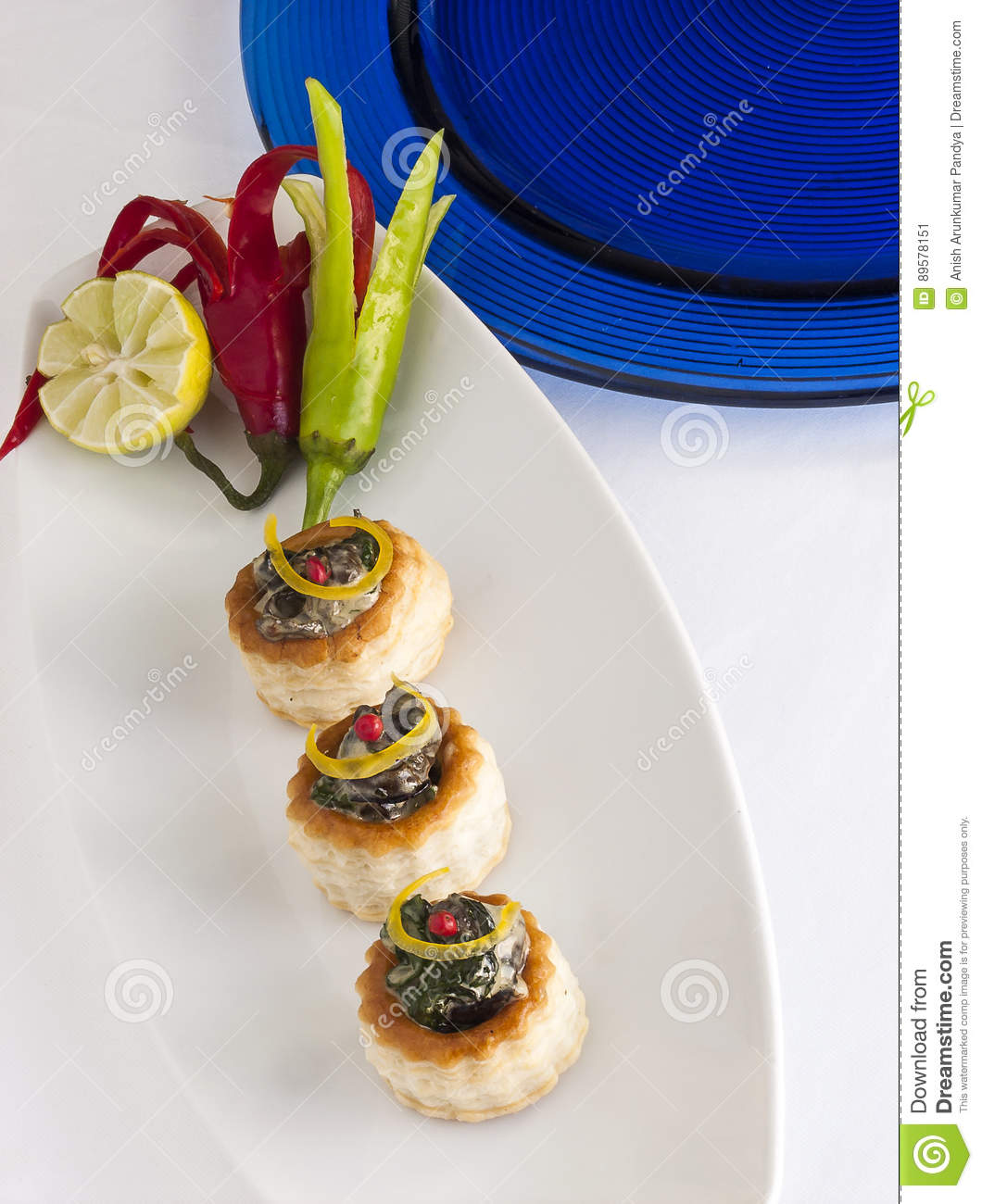 Creamy Spinach On Voulevant Stock Image Image Of Background Vent