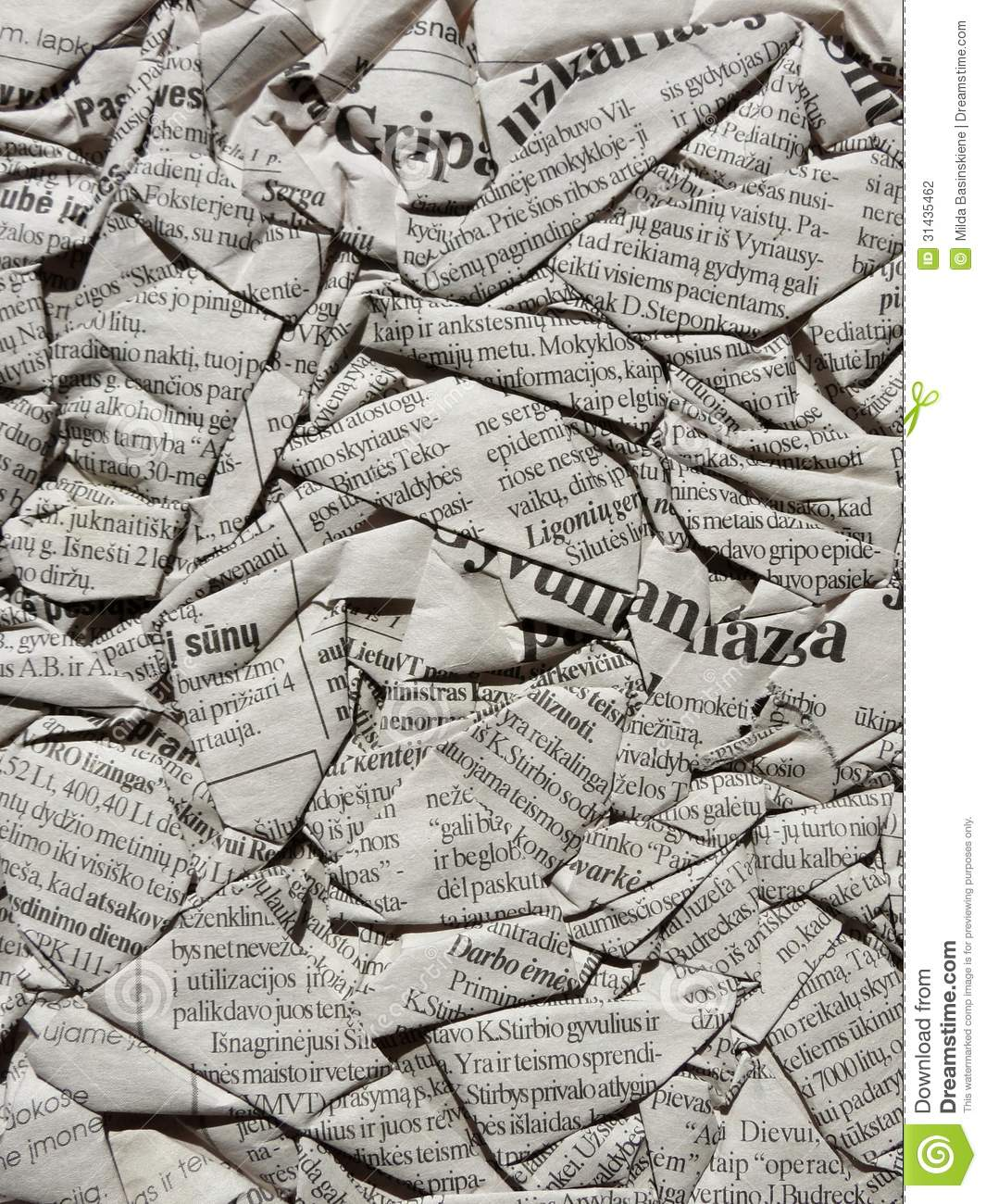 terms in printing of newspapers