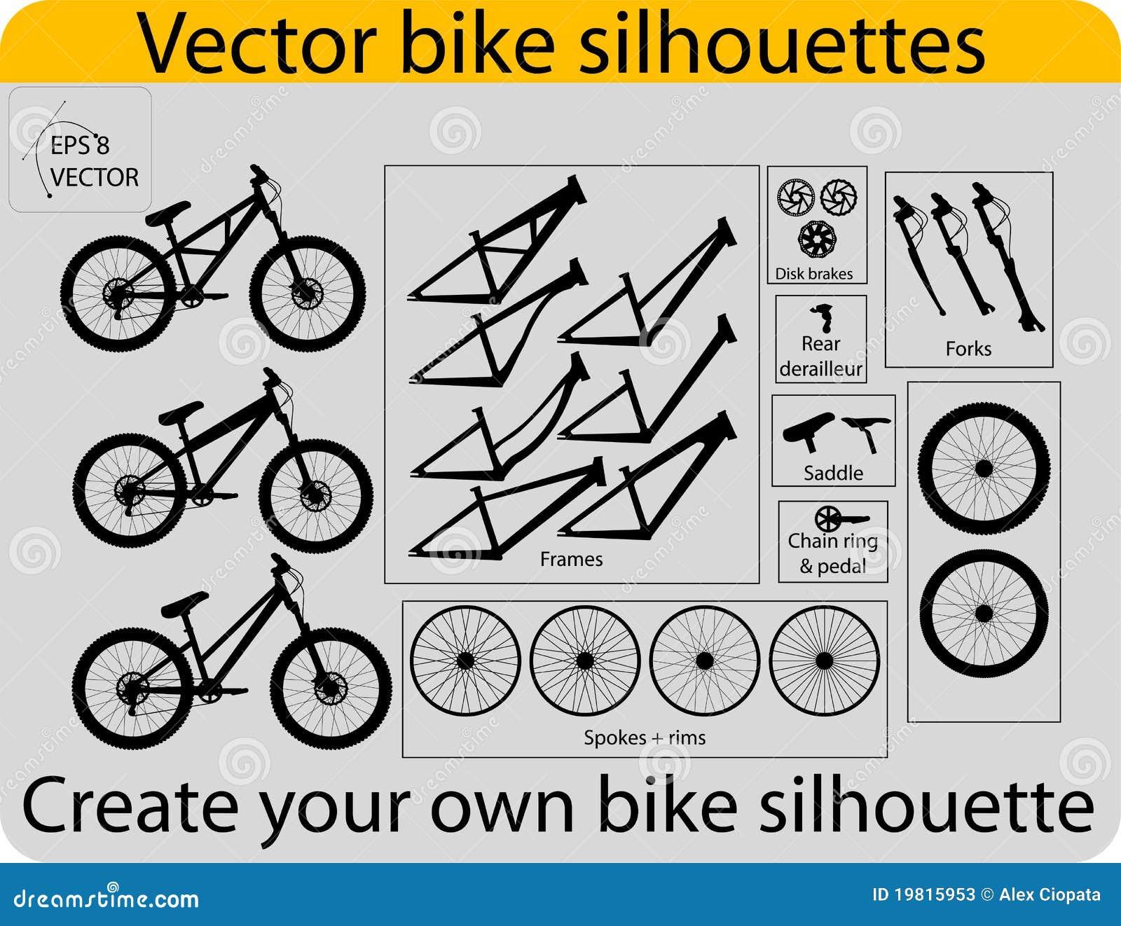 Create Bike Silhouettes Stock Photos Image 19815953