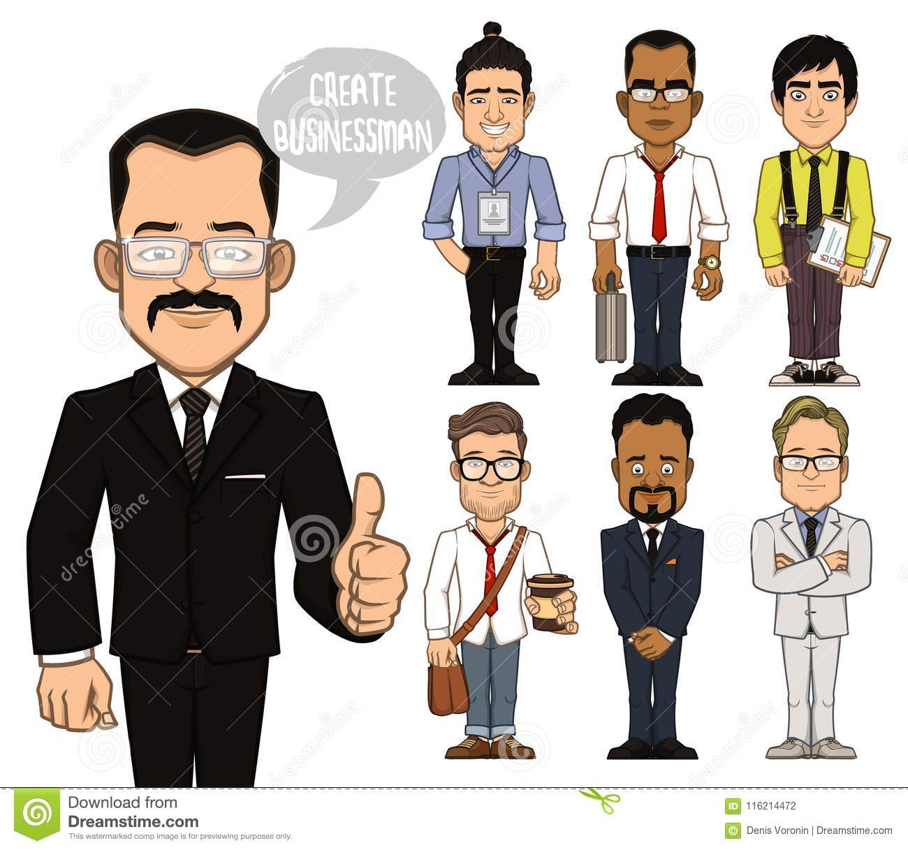 Create businessman characters. Part 2