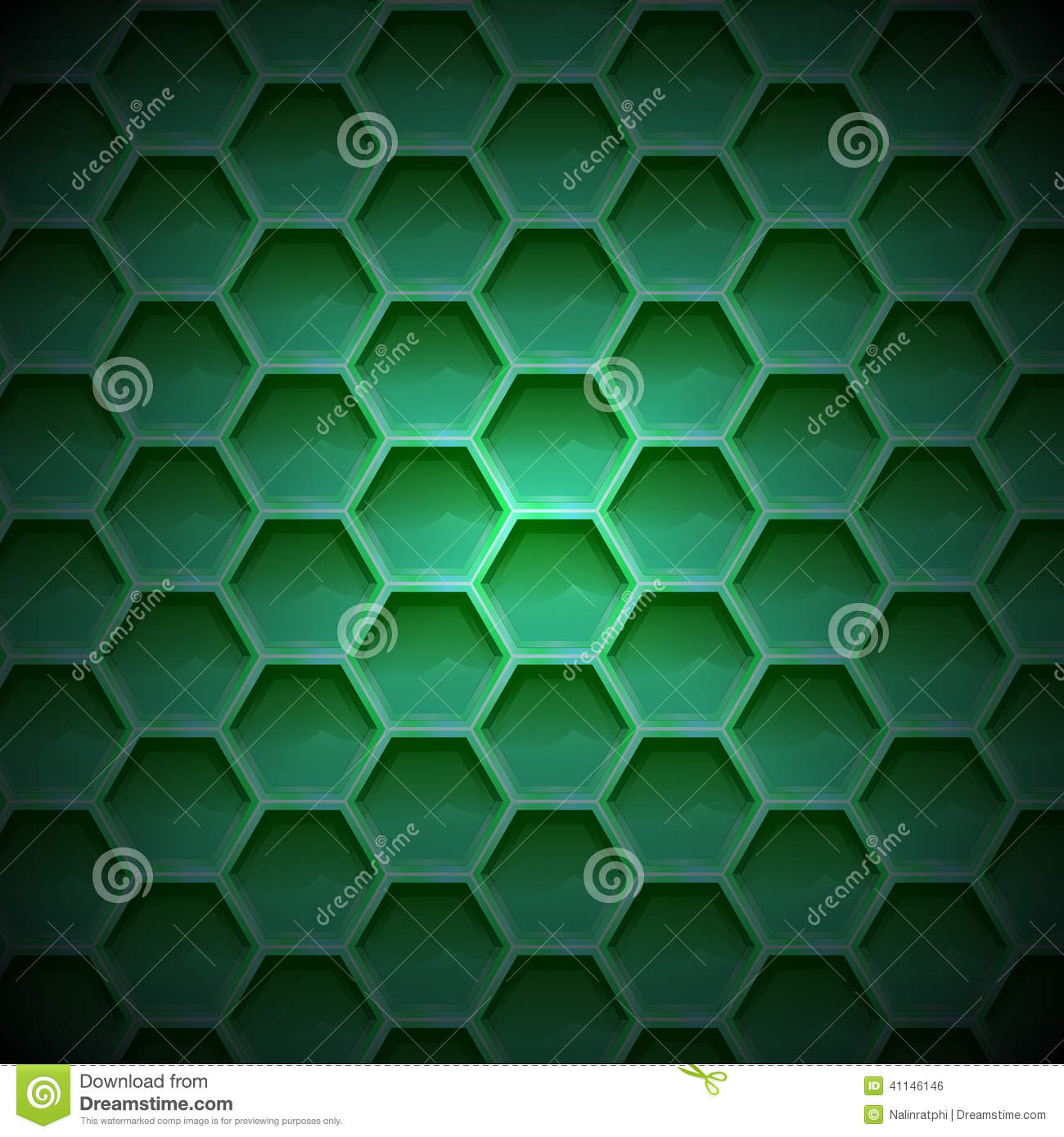 Create green color honeycomb background texture