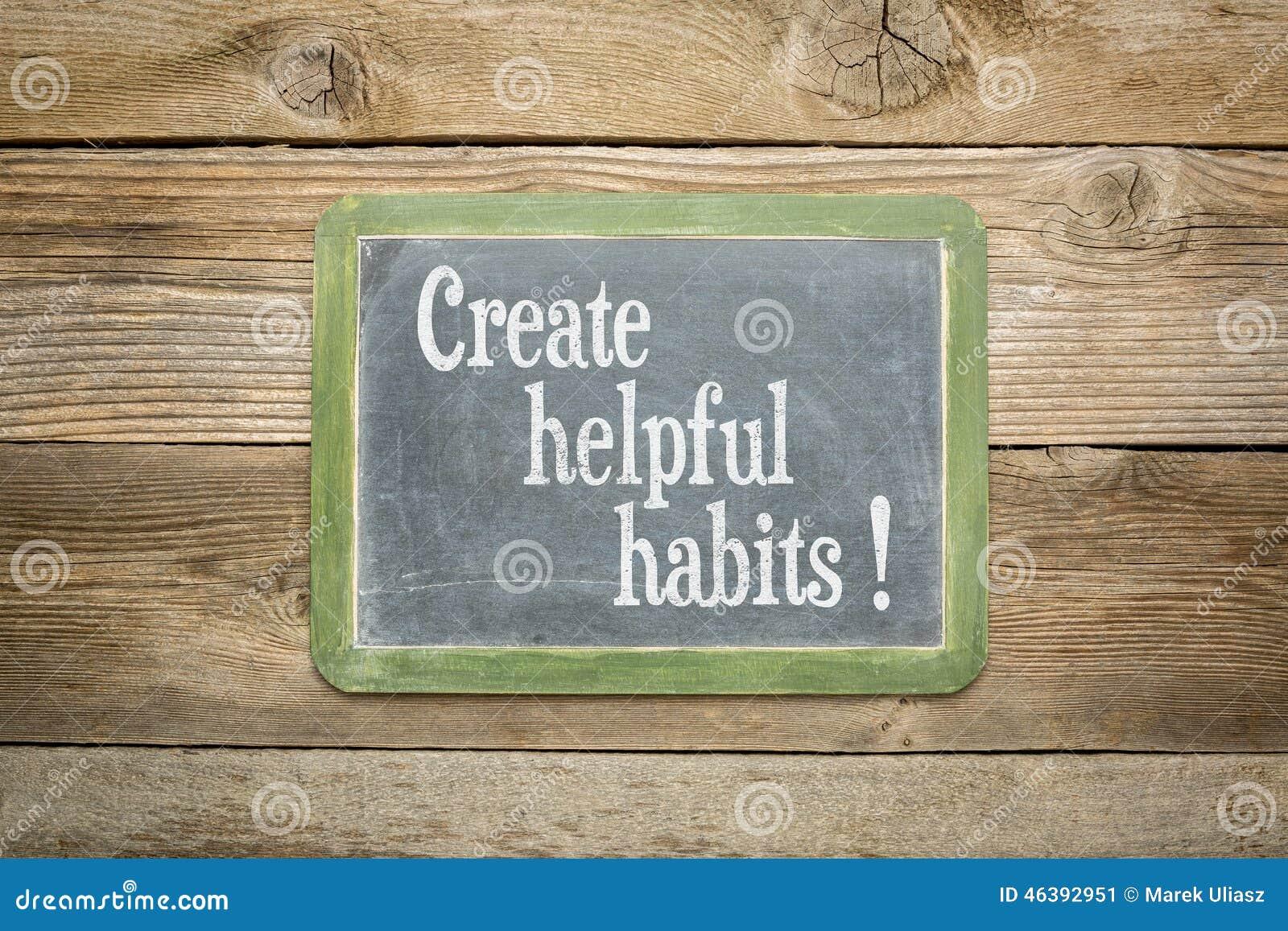 Stocks Download Shivam Creation: Create Helpful Habits Stock Image. Image Of Helpful