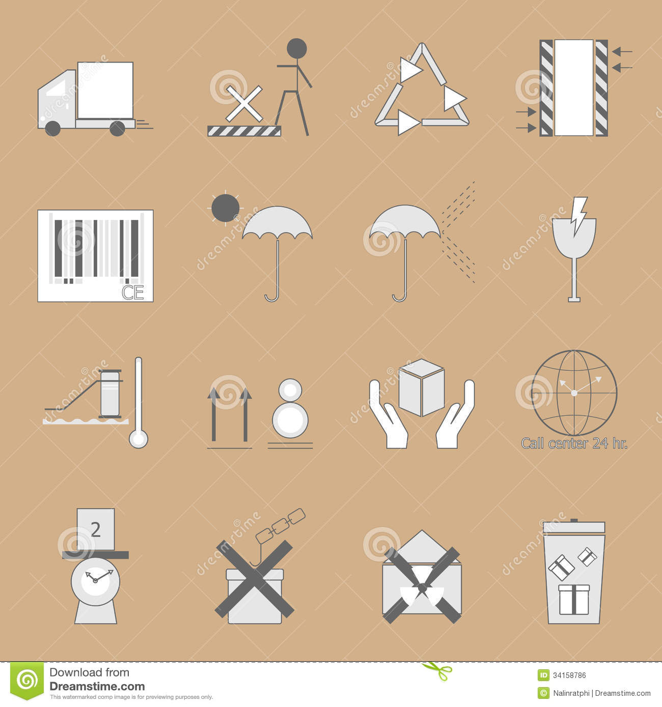 Create Parcel Sign On Brown Background Royalty Free Stock