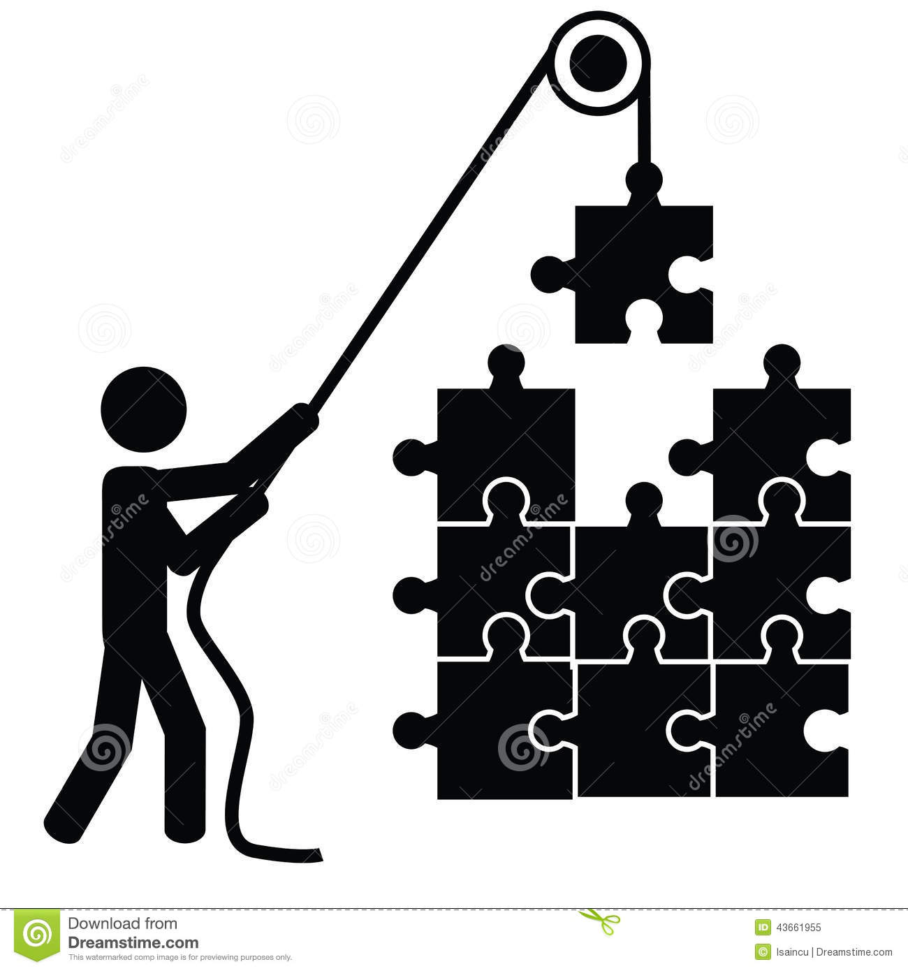Create a puzzle stock vector illustration of idea inductry create a puzzle biocorpaavc Images