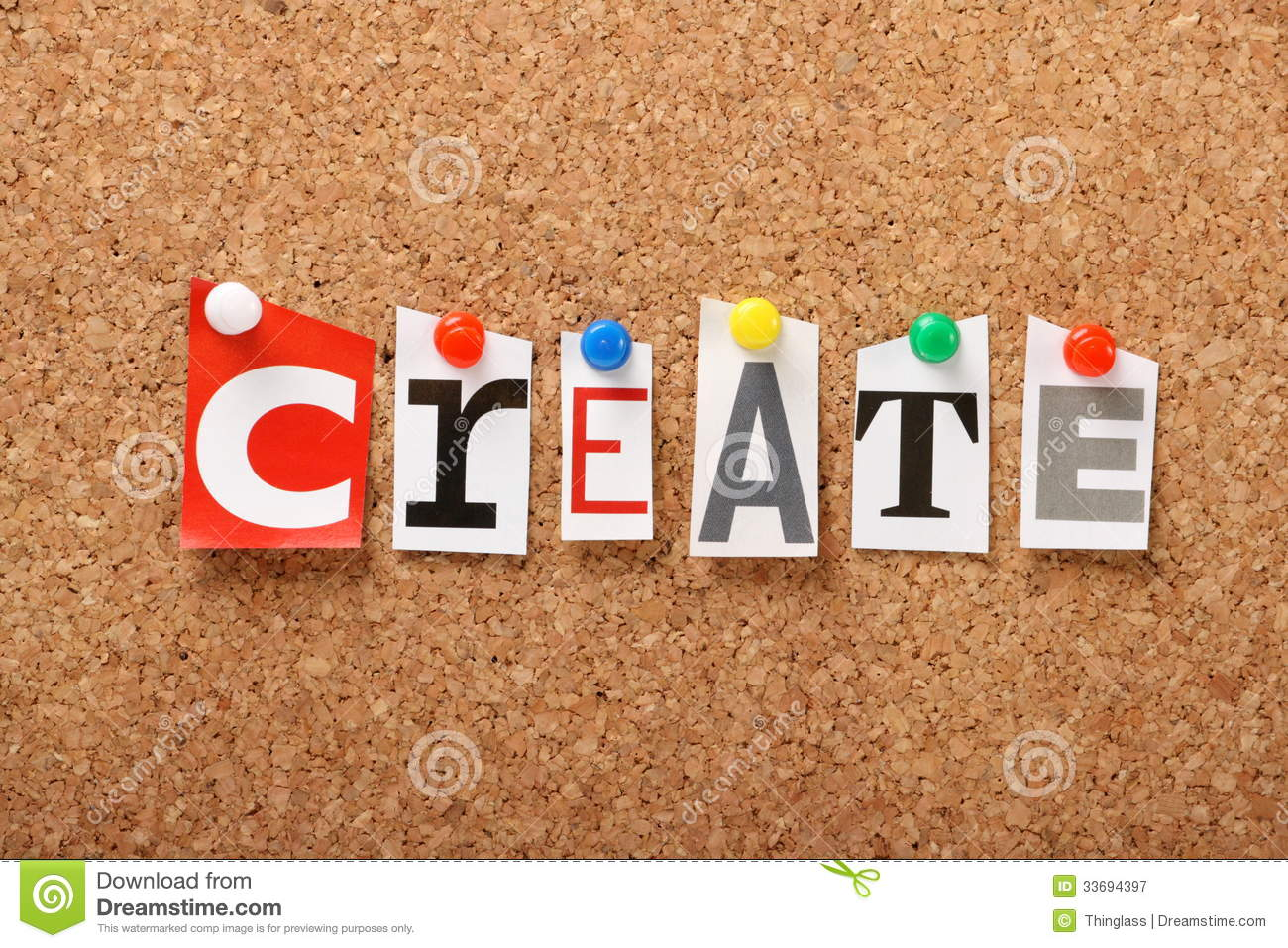 Create royalty free stock photography image 33694397 for Creative notice board
