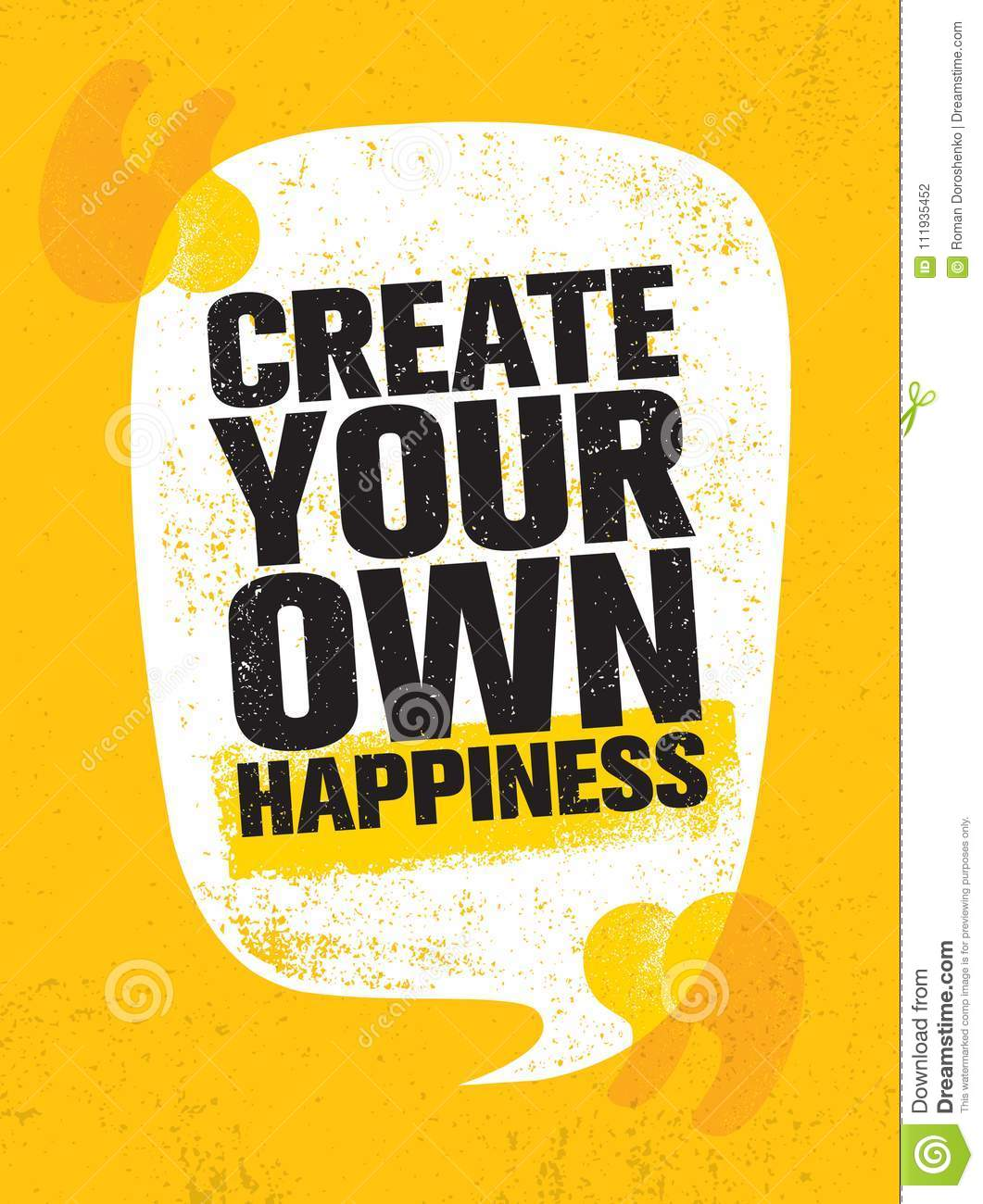 create your own happiness bright inspiring creative motivation