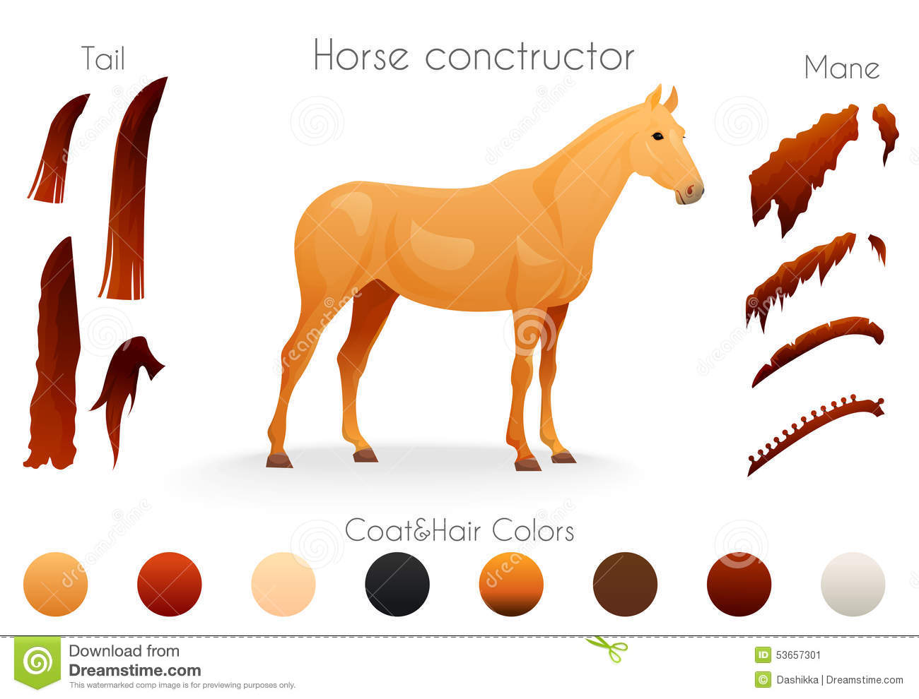 Create Your Own Horse Design Withconstructor Stock Vector - Image ...