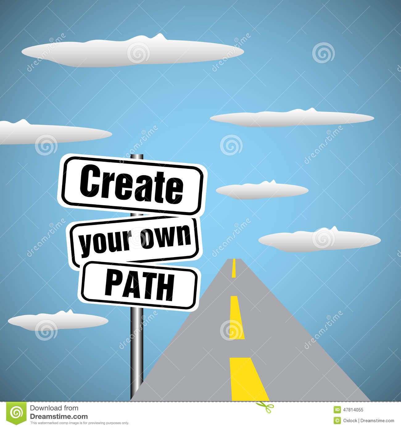 Create Your Own Path Stock Vector Image 47814055