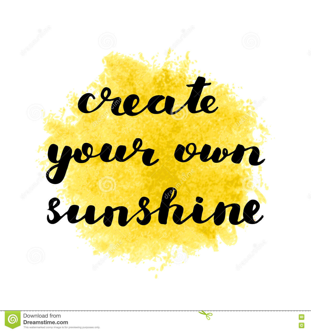 Create Your Own Quote Create Your Own Sunshinebrush Letteringstock Vector  Image