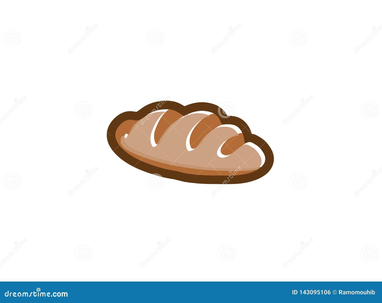 Creatief heet Brood voor embleemontwerp
