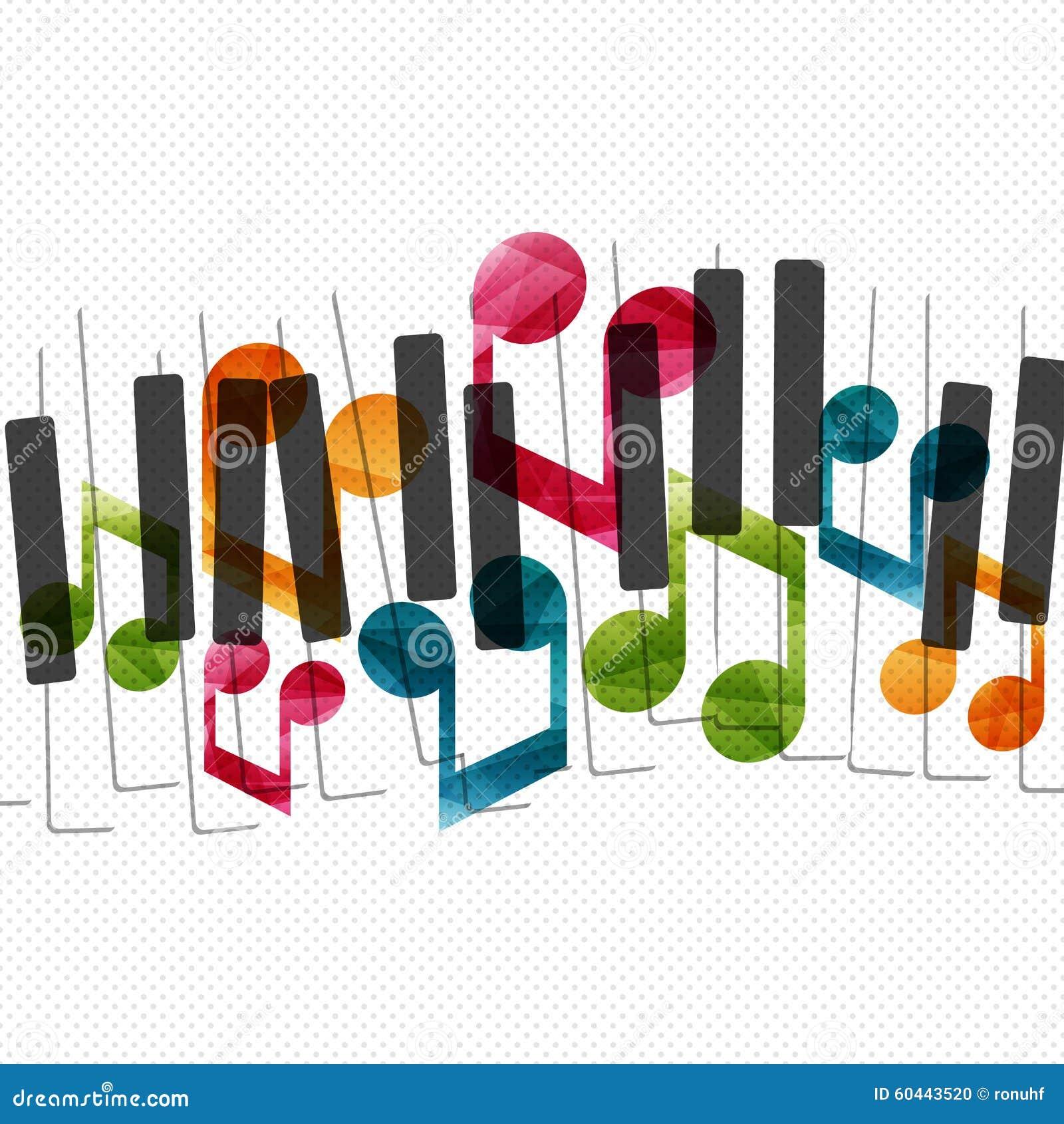 Creatieve het conceptenillustratie van de pianomuziek stock illustratie afbeelding 60443520 - Het upgraden van m ...