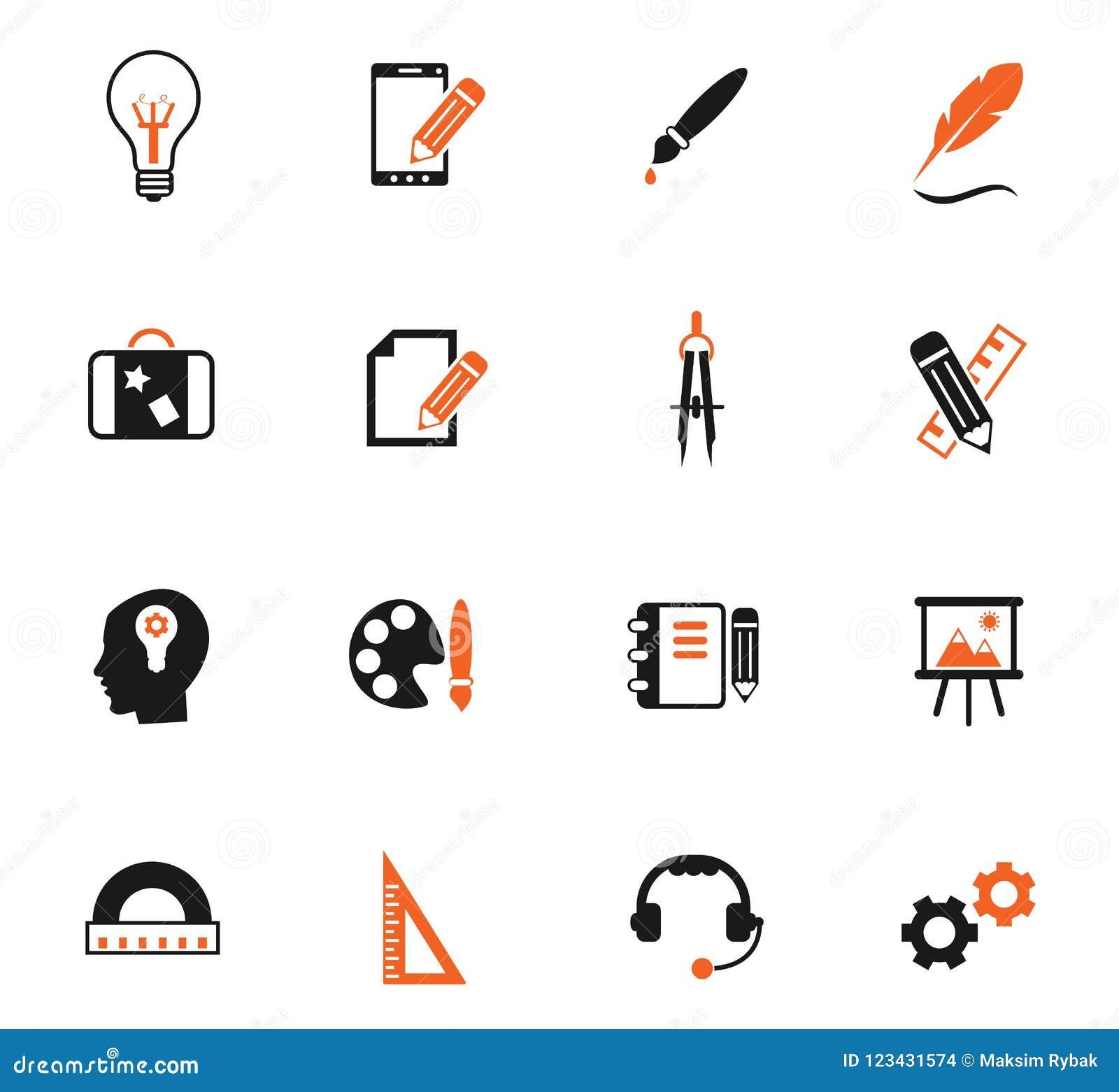 Creatieve het pictogramreeks van de proceskleur