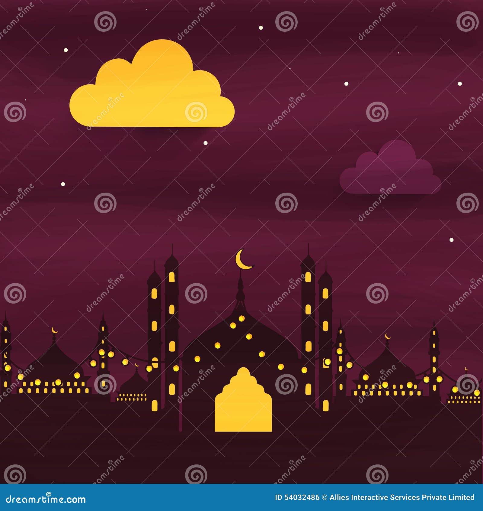 Creatieve Moskee voor Ramadan Kareem-viering