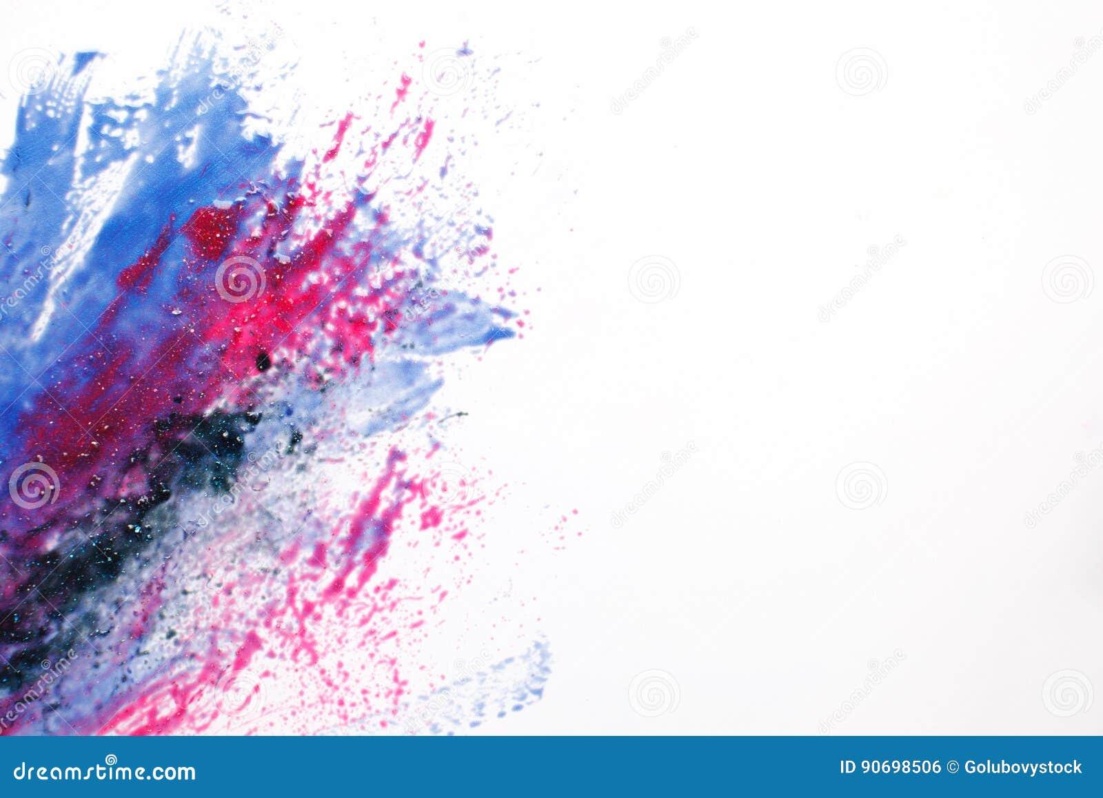 Creatieve ruimtekunst, abstracte melkweg, gemengde kleuren