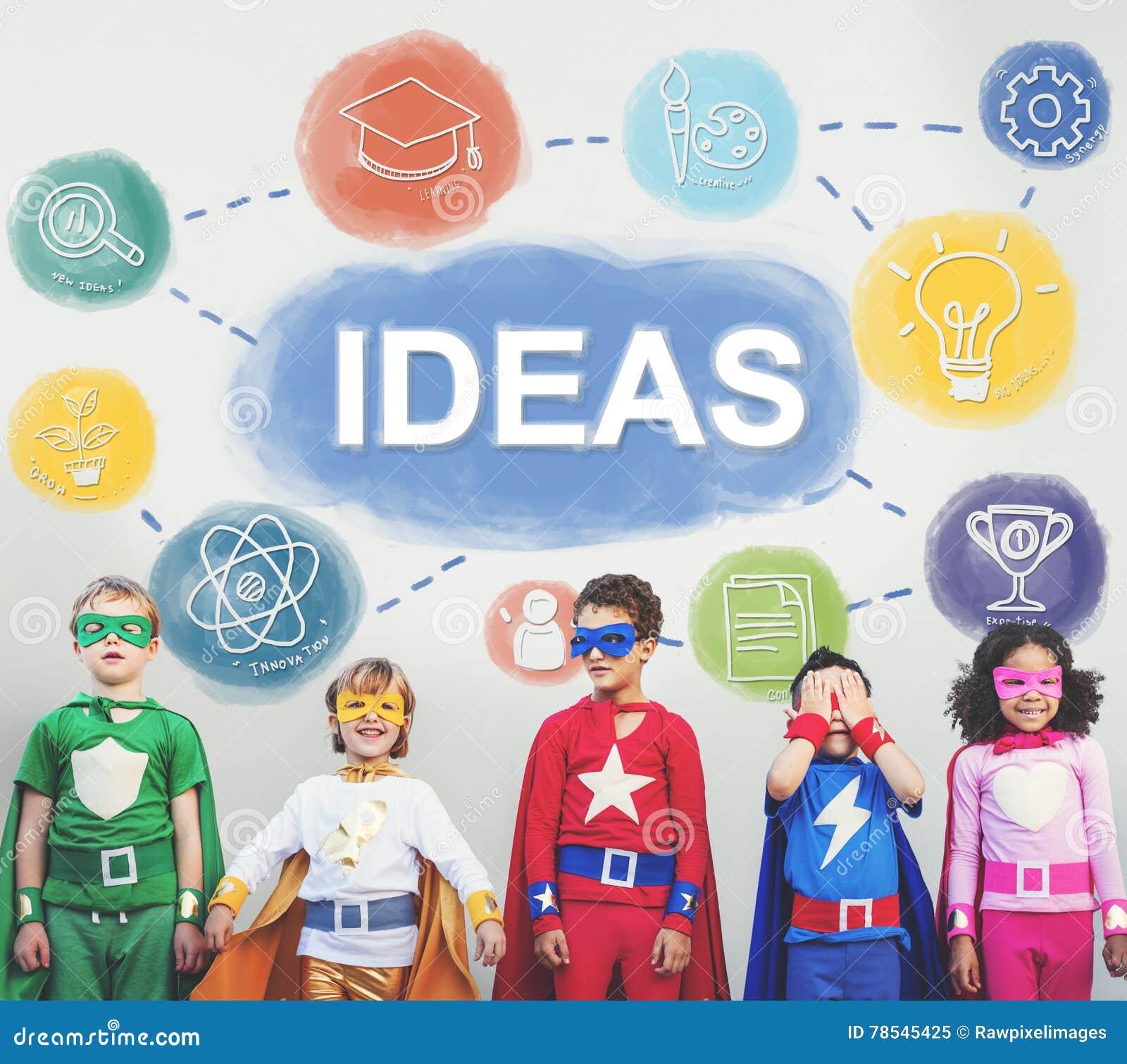 Creatieve uitwisselings van ideeën de Kennis veronderstelt denkt Concept