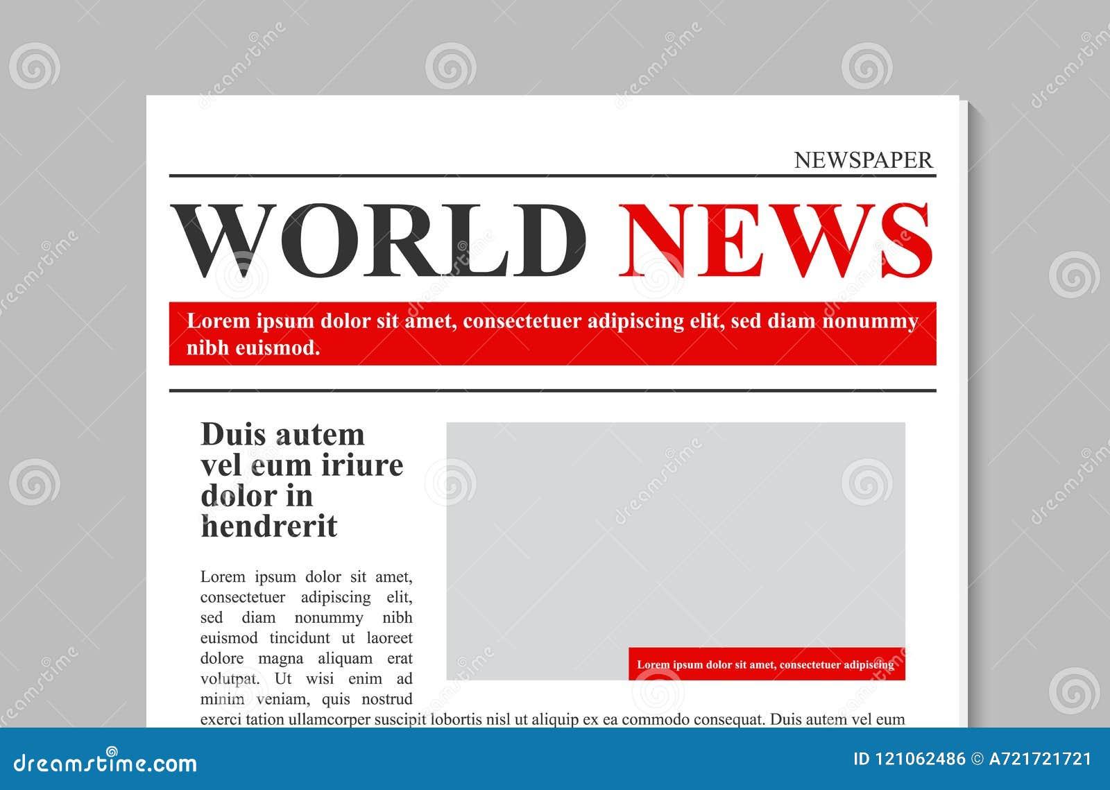 Creatieve vectorillustratie van dagelijks krantendagboek, bedrijfs promotiedienieuws op transparante achtergrond wordt geïsoleerd