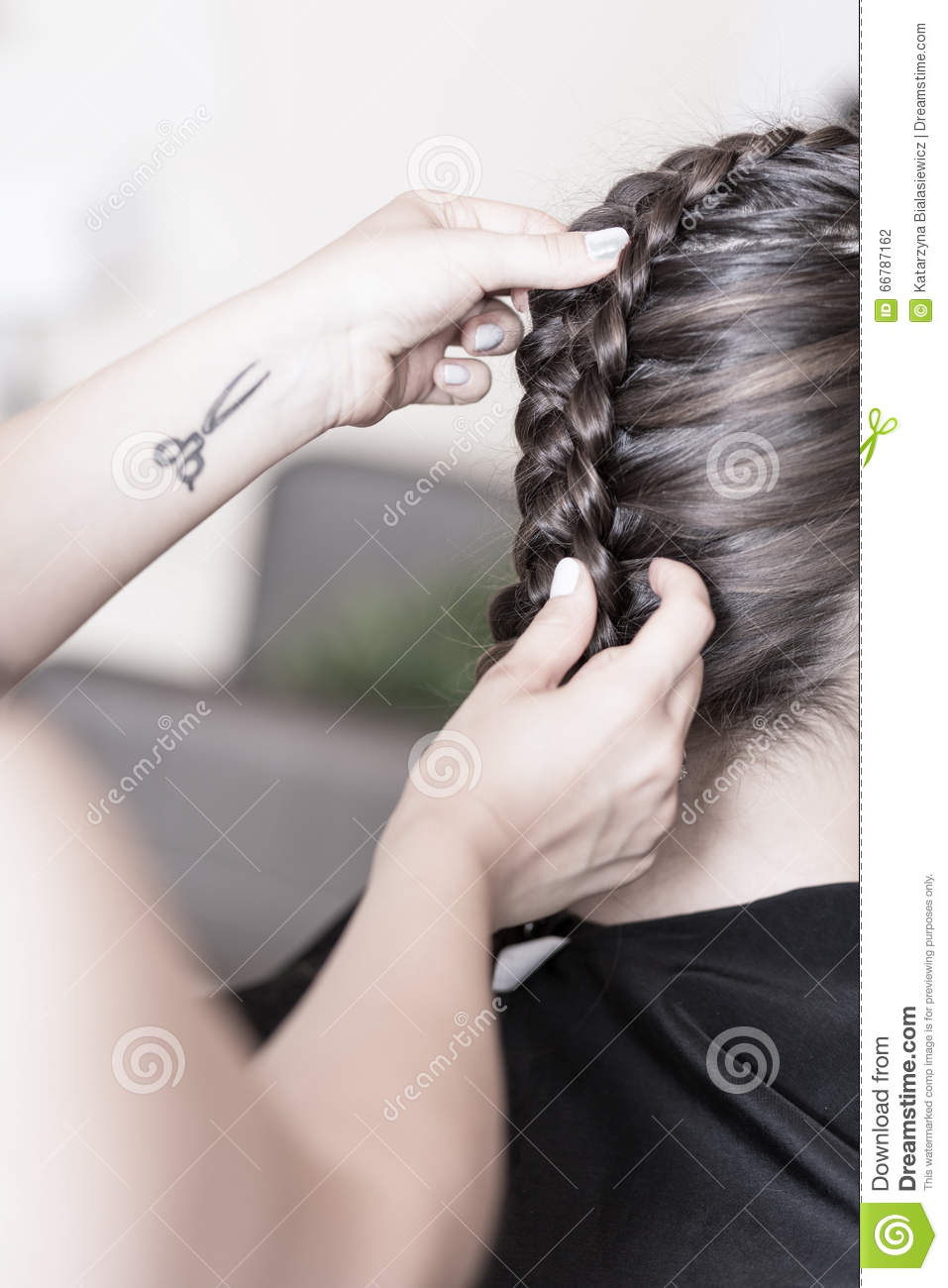 Creating a braided hairstyle