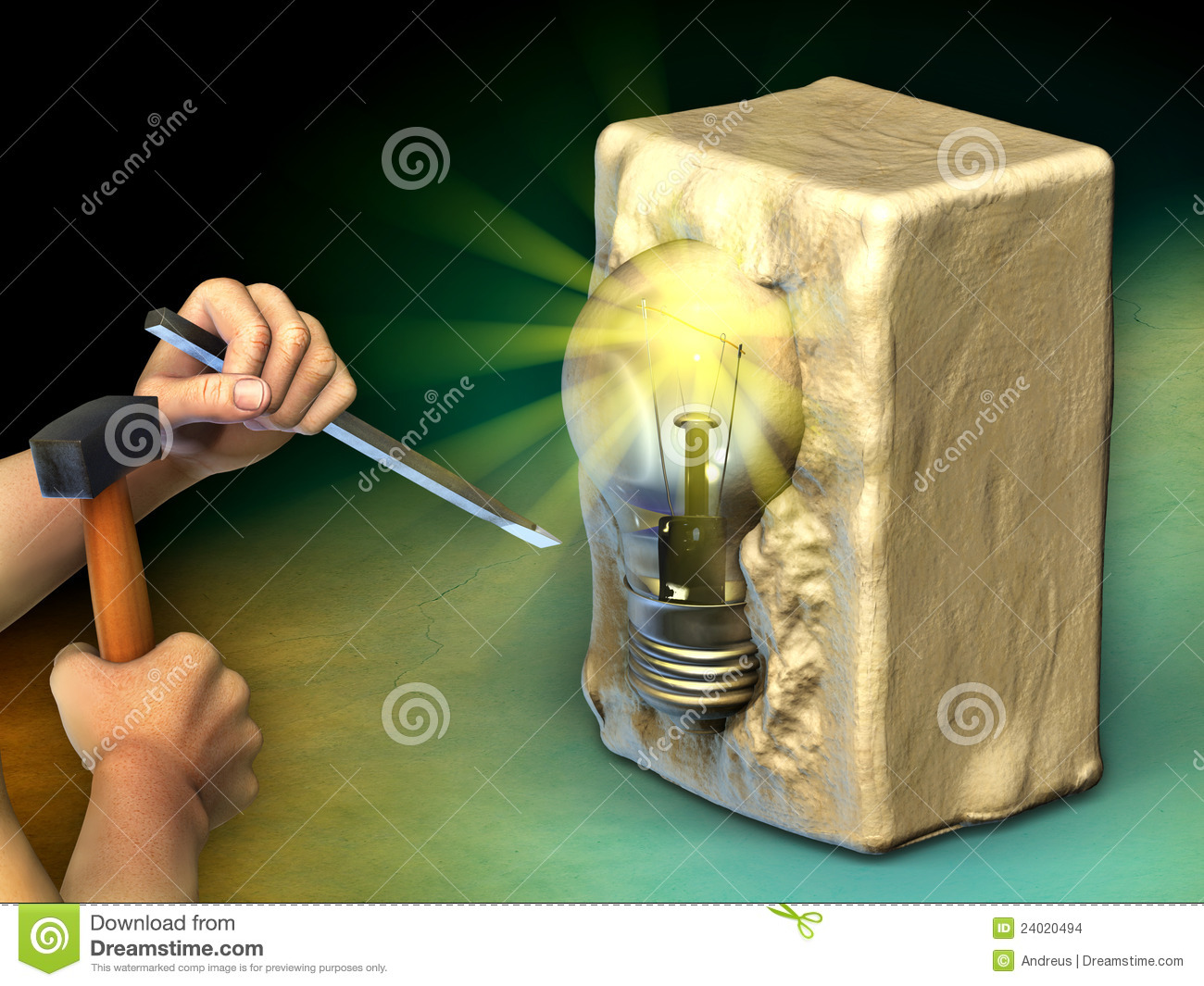 creating an idea stock images image 24020494