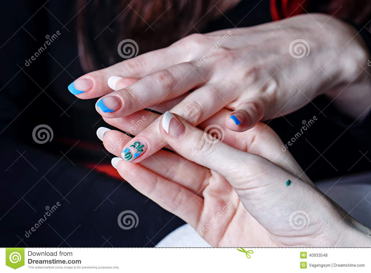 Creation manicure stock photo image 40933548 for A new creation salon