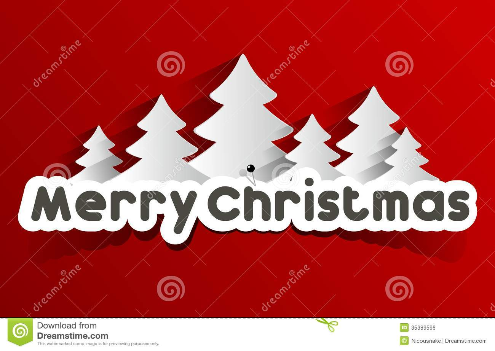 Creative Abstract Merry Christmas Card Stock Vector Illustration