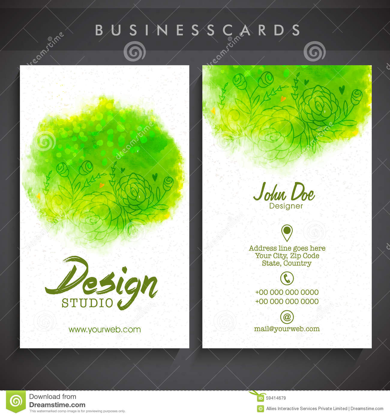 Creative Artistic Business Card Set. Stock Illustration ...